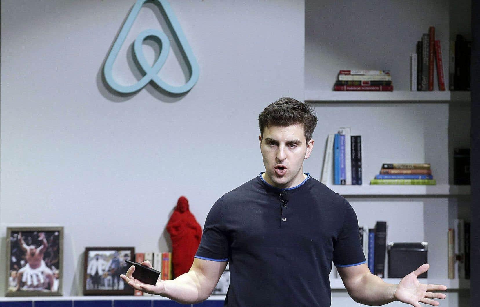 Brian Chesky, fondateur et patron de la société Airbnb
