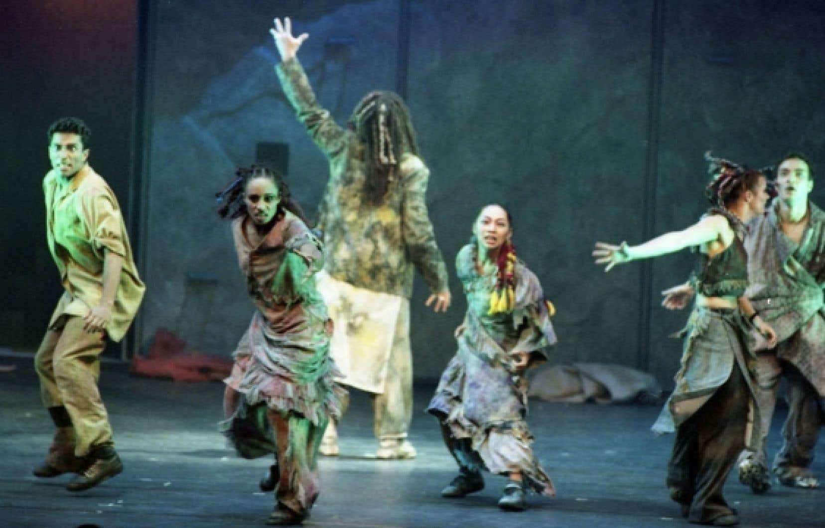 Sylvain Cormier, critique de musique au Devoir, a essuyé les foudres de Luc Plamondon, porté aux nues en Europe après Notre-Dame de Paris. Ce dernier l'a interdit d'entrée à la première montréalaise de sa comédie musicale. Ici, une scène de l'opéra rock présenté au Théâtre Saint-Denis en 1999.