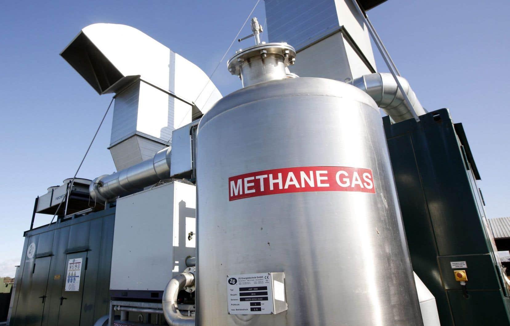 Deuxième grand gaz à effet de serre lié aux activités humaines, après le dioxyde de carbone, le méthane contribue pour quelque 20% au réchauffement en cours.