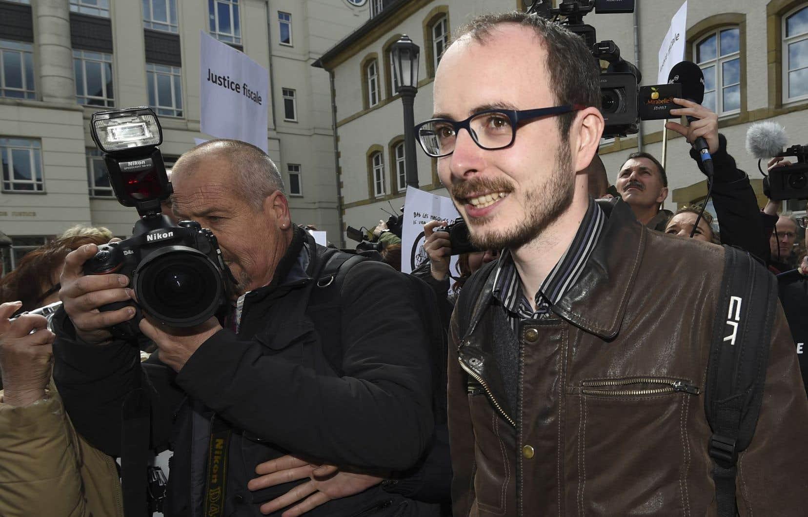 Antoine Deltour, l'un des deux lanceurs d'alerte incriminés dans ce procès «LuxLeaks»