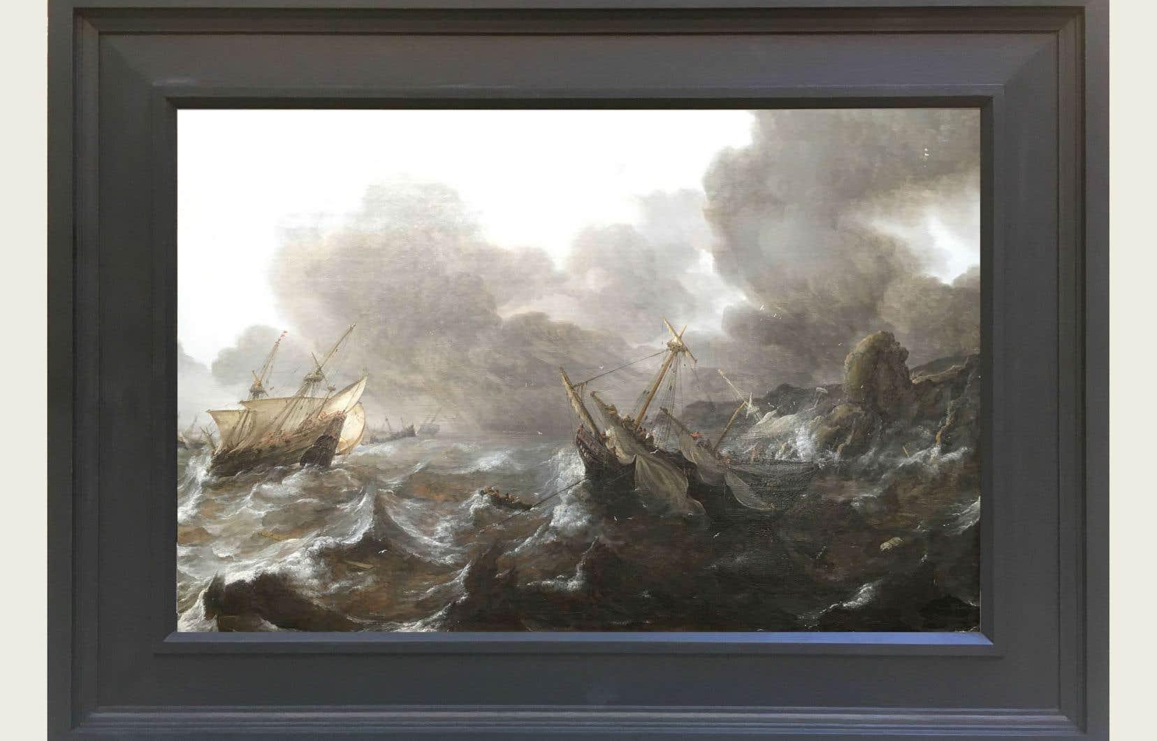 «Navires en détresse dans la tempête», Jan Porcellis