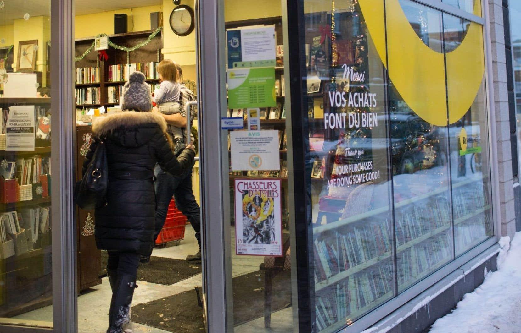 Les friperies, dont les magasins Renaissance, relèvent d'un marché différent de celui du livre.