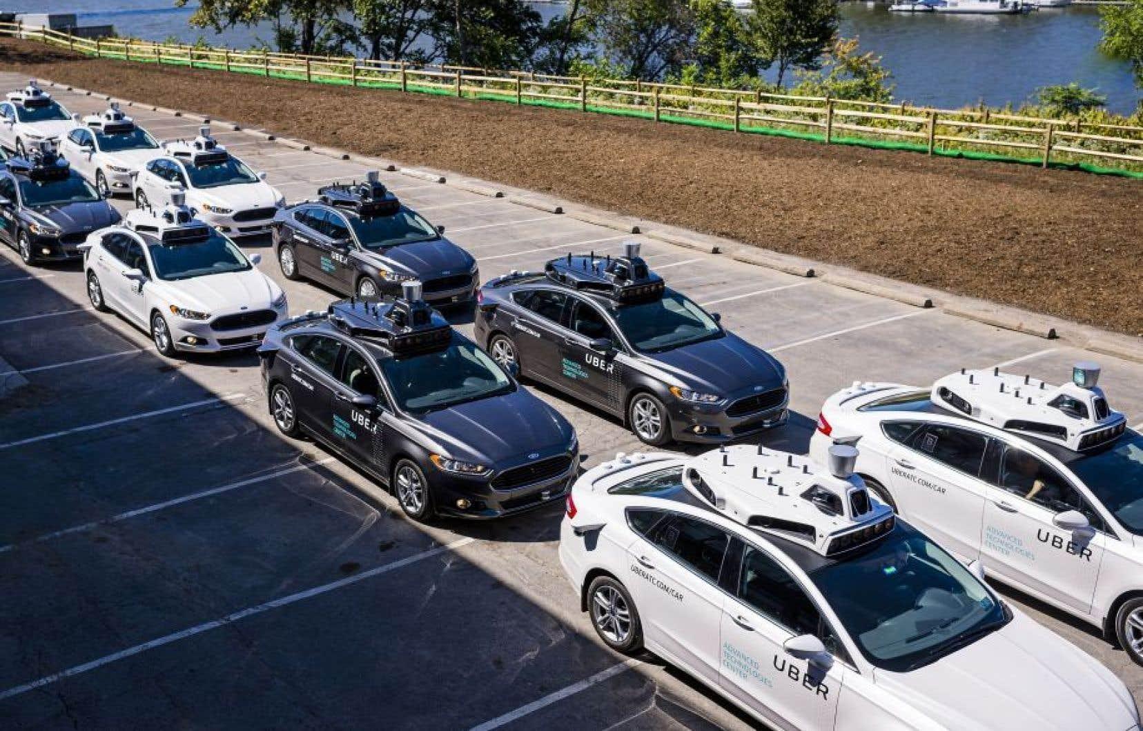 Les voitures sans chauffeur d'Uber pourront embarquer jusqu'à 3 passagers.