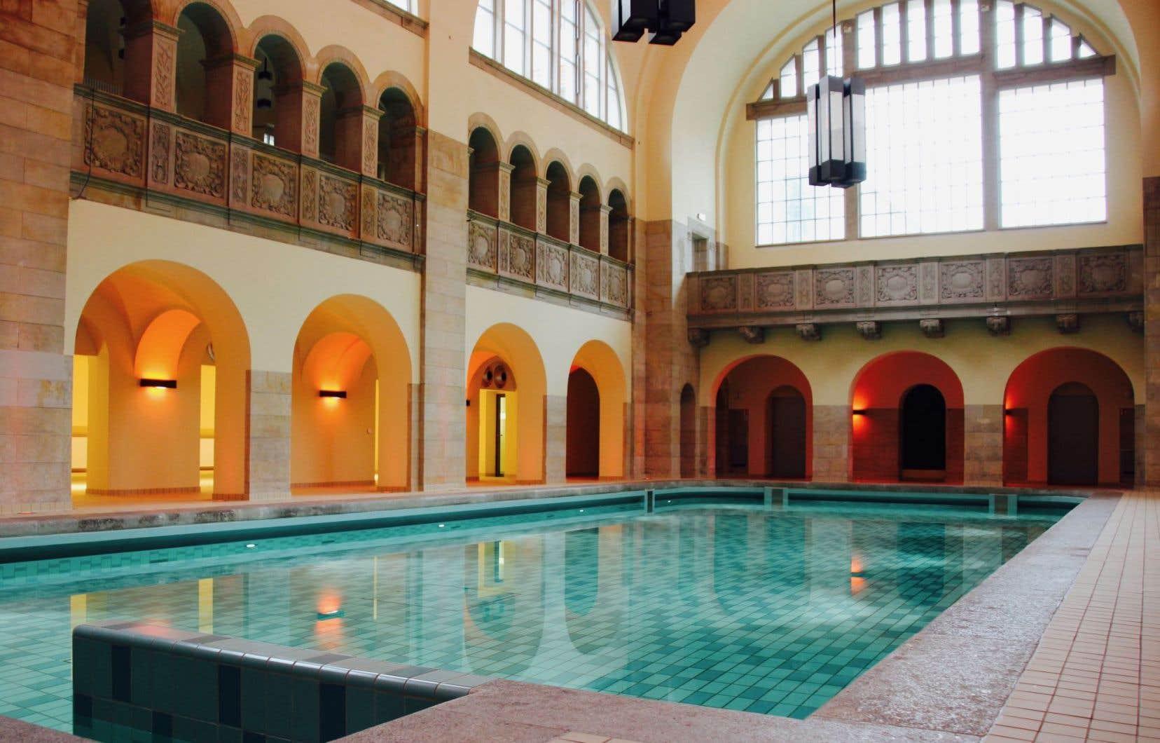 La piscine publique du nouvel hôtel Oderberger