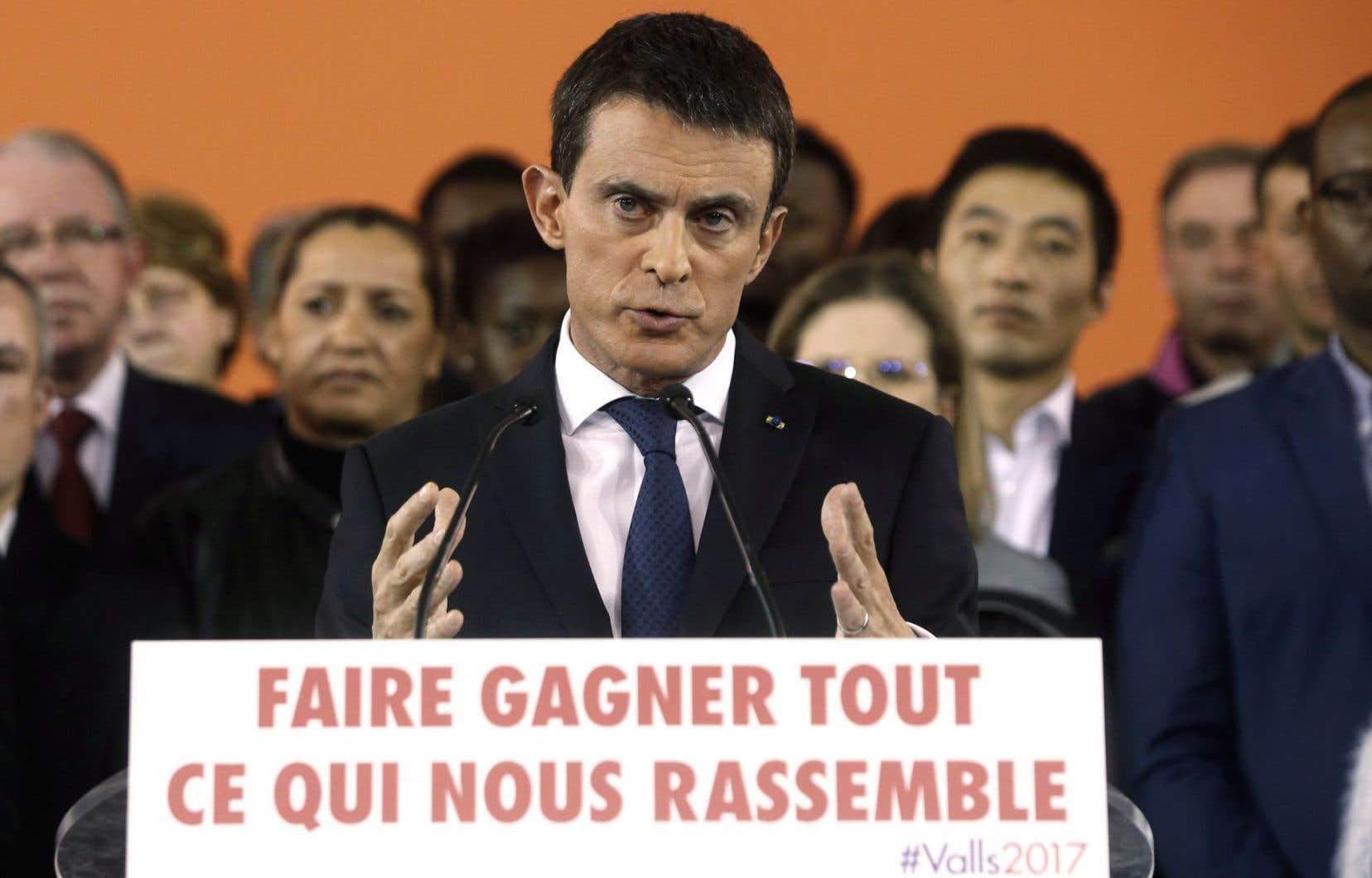 Le premier ministre français et candidat à la primaire de la gauche Manuel Valls