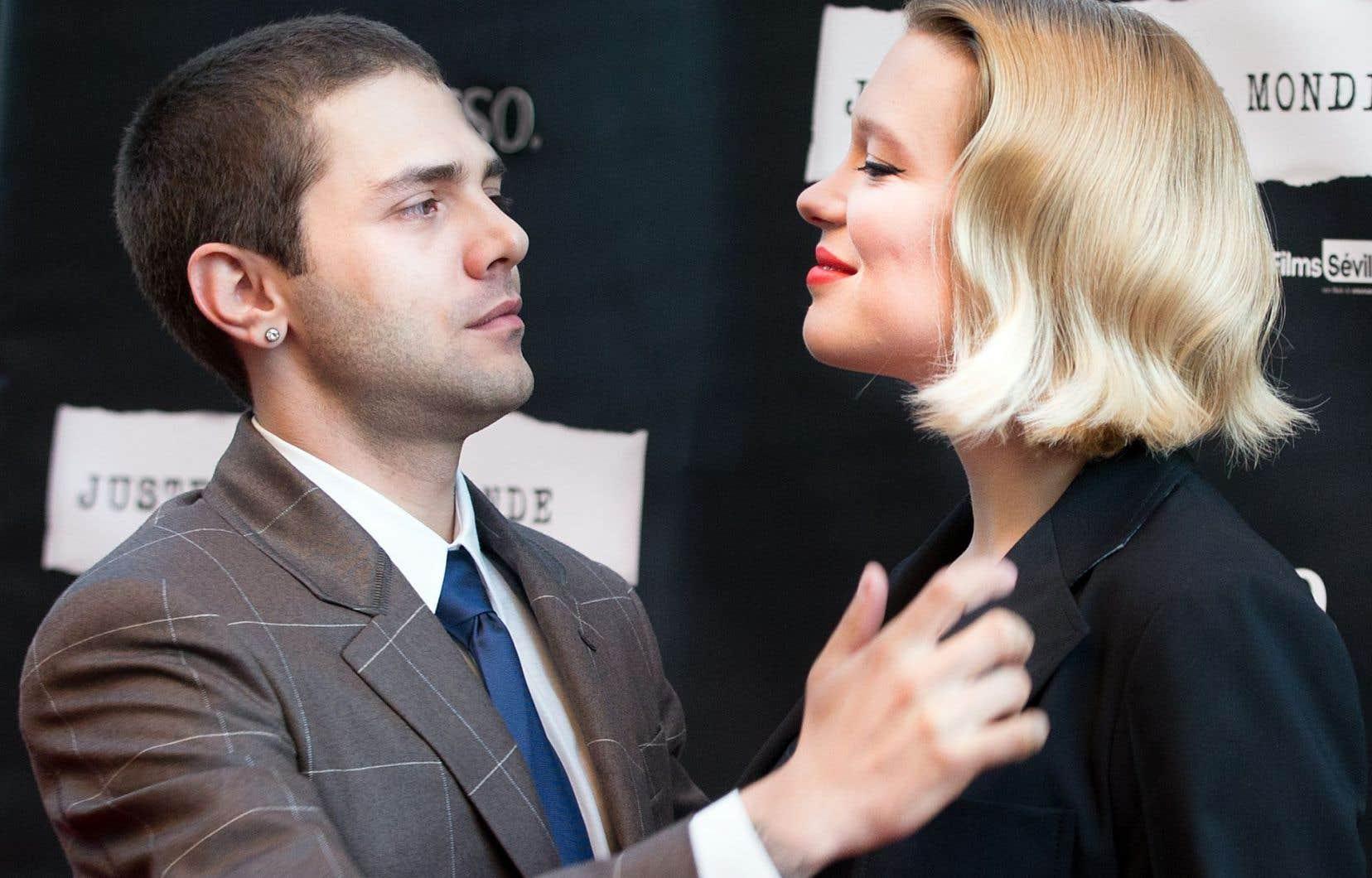 Xavier Dolan et l'actrice Léa Seydoux, à la première de «Juste la fin du monde», à Montréal, en septembre dernier