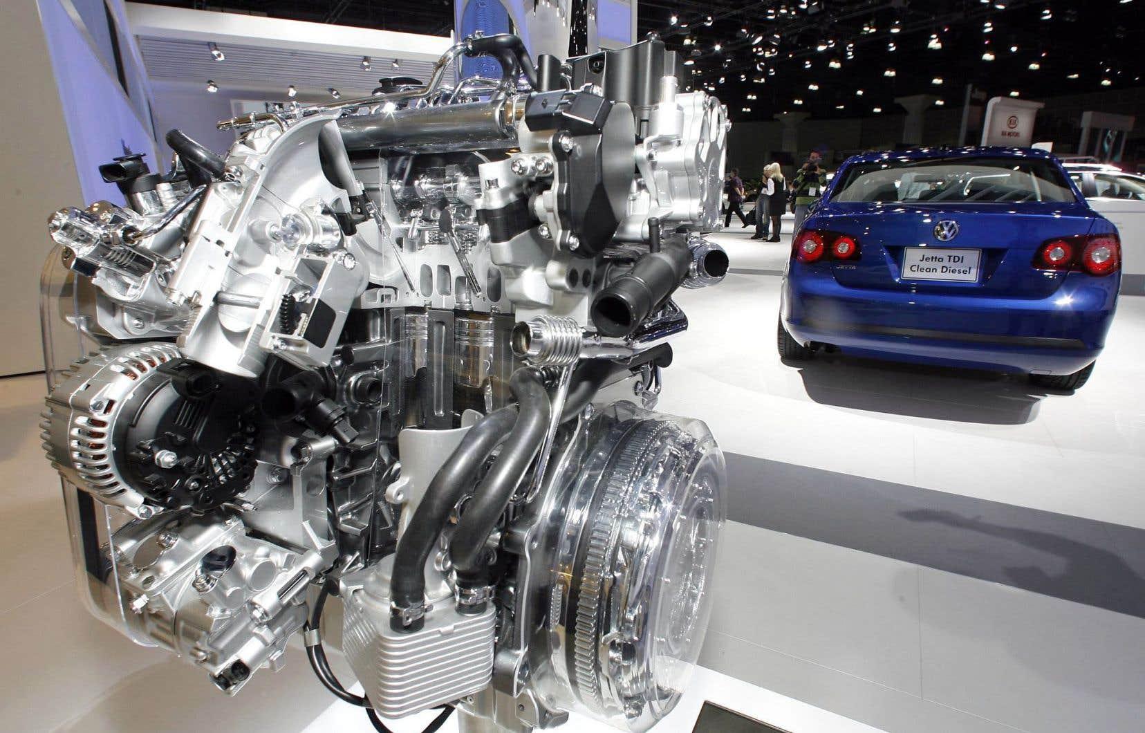 La proposition de règlement au Canada couvre certains modèles, dont la Jetta, dotés de moteurs au diesel comme celui-ci.