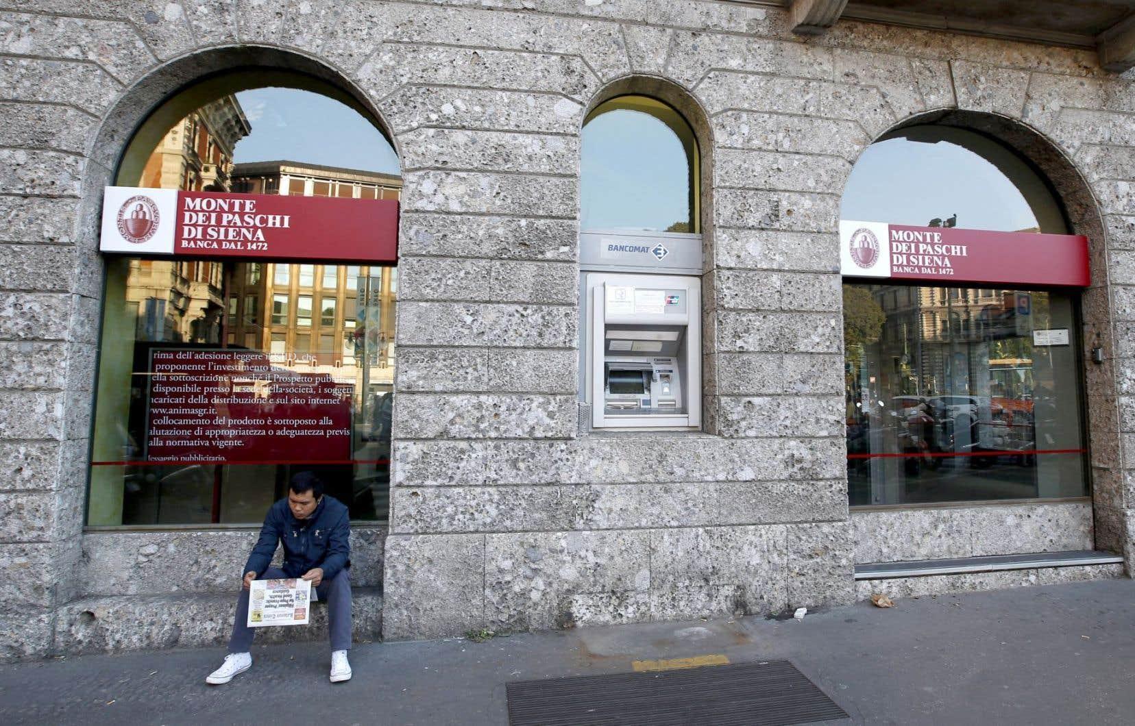 La banque Monte Dei Paschi di Siena (BMPS) est en grande difficulté.