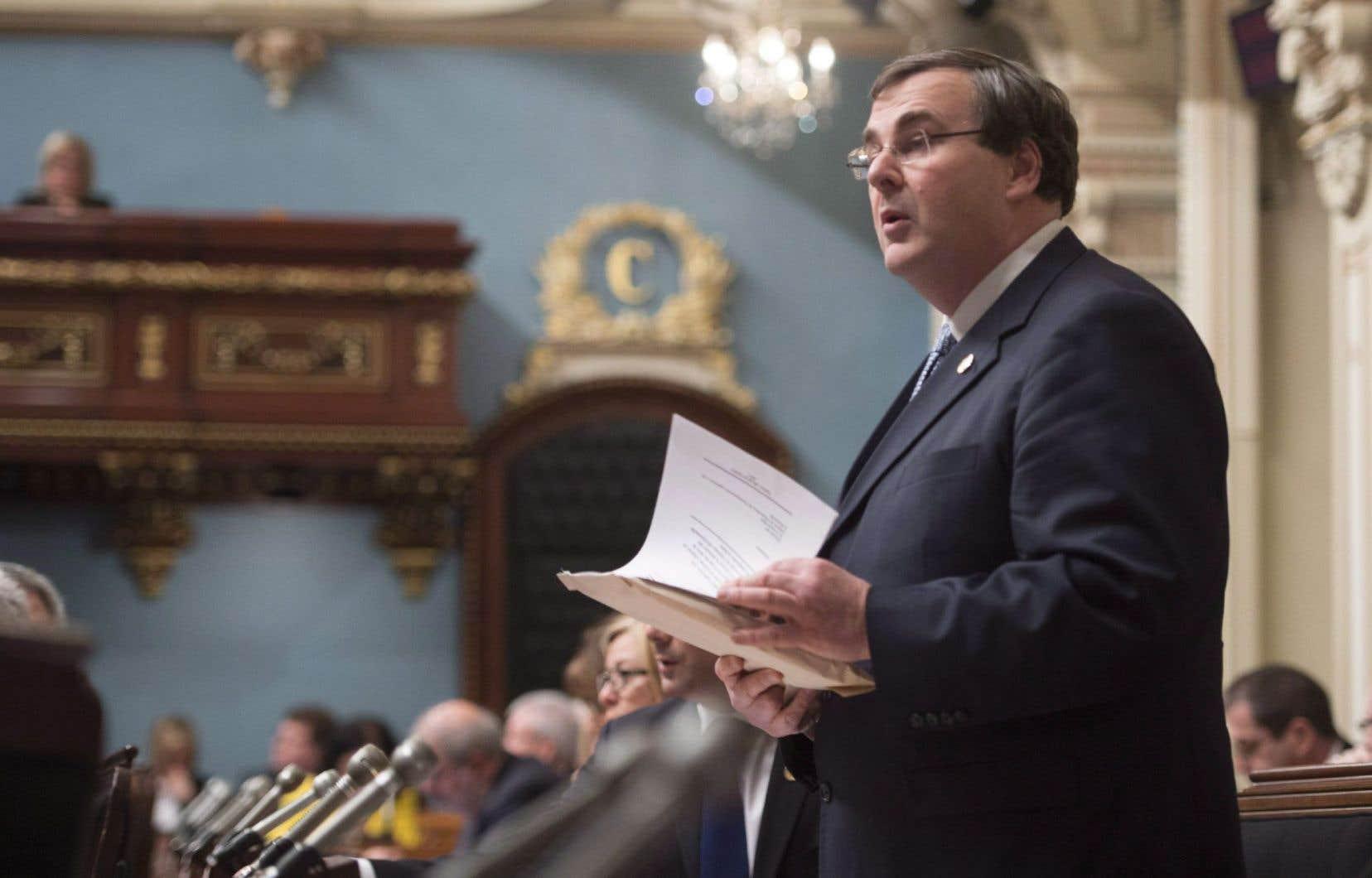 Le ministre québécois de la Solidarité sociale, François Blais
