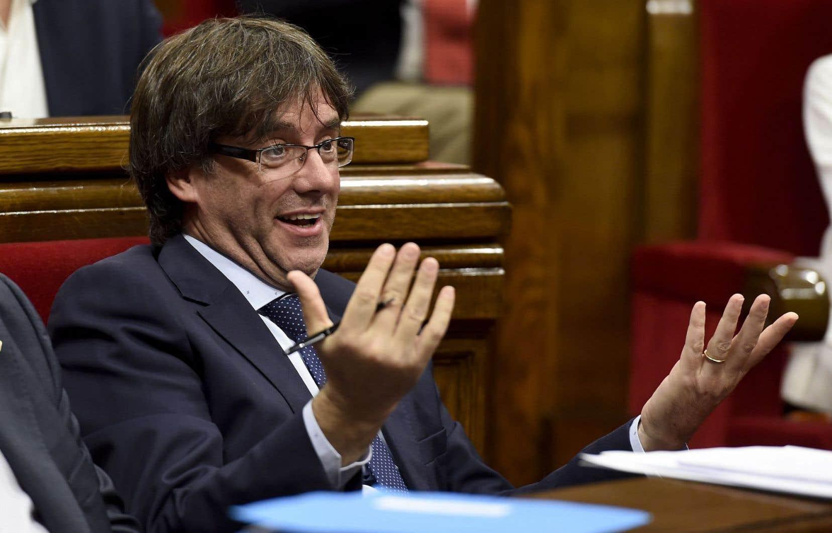 Le séparatiste catalan Carles Puigdemont