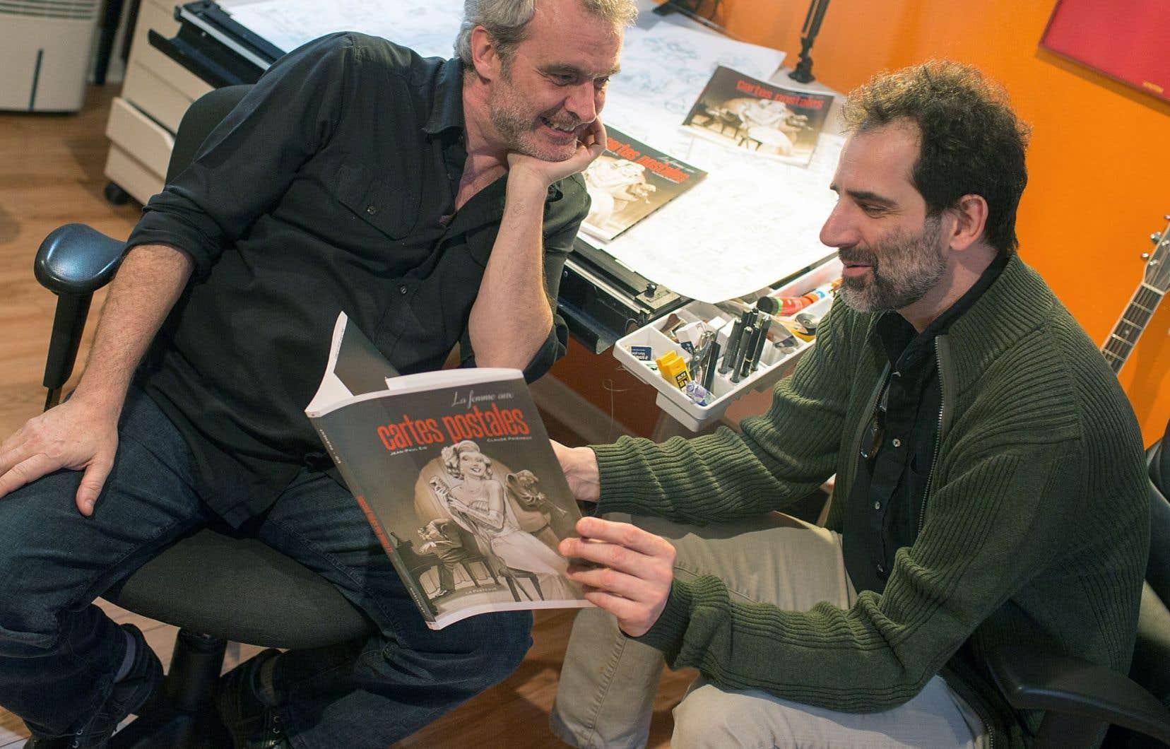 Le bédéiste Jean-Paul Eid et le dramaturge Claude Paiement ont décroché le prix de la critique ACBD de la bédé québécoise avec «La femme aux cartes postales».