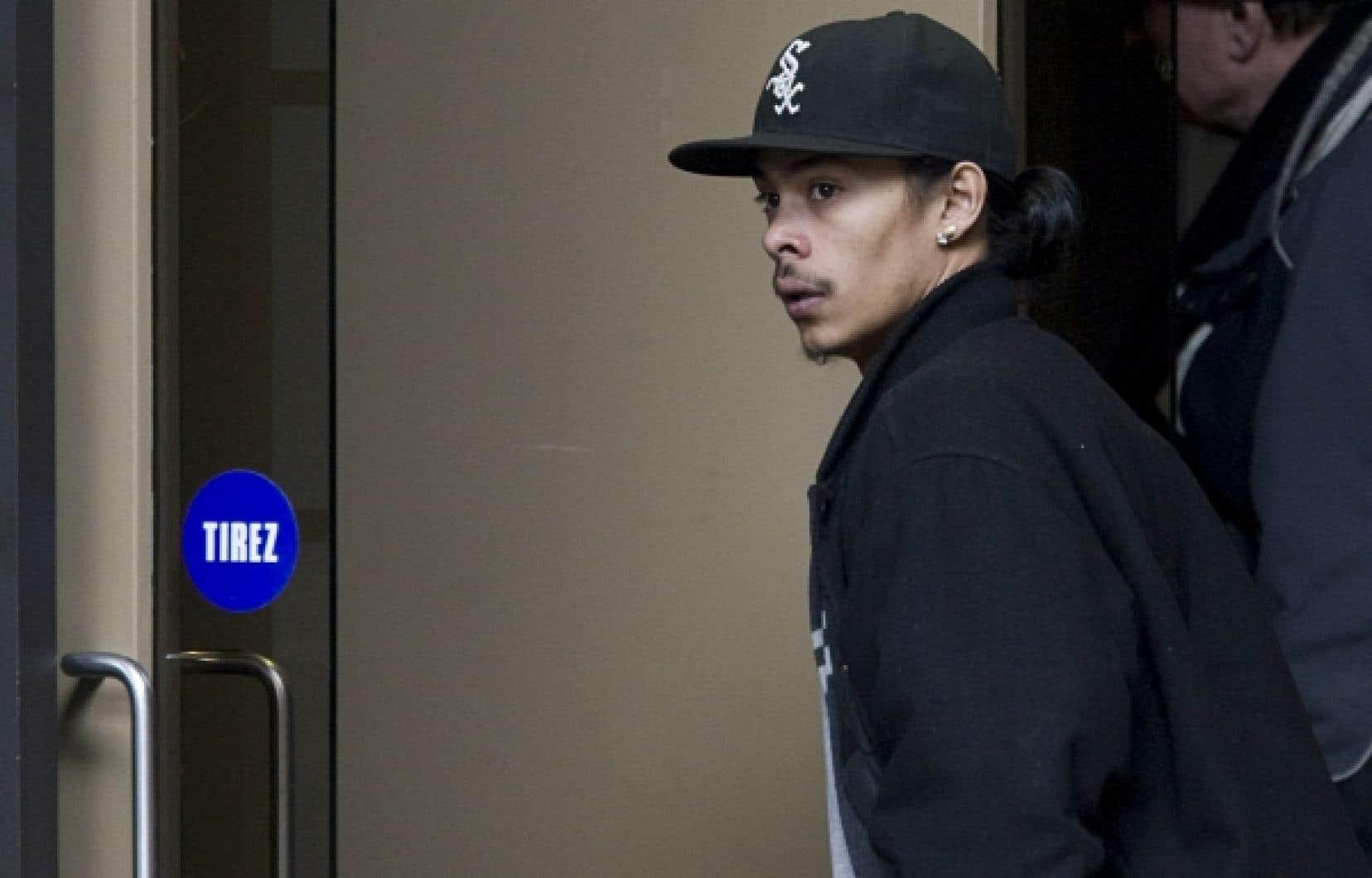 Dany Villanueva, le frère de Fredy, hier au Palais de justice de Montréal