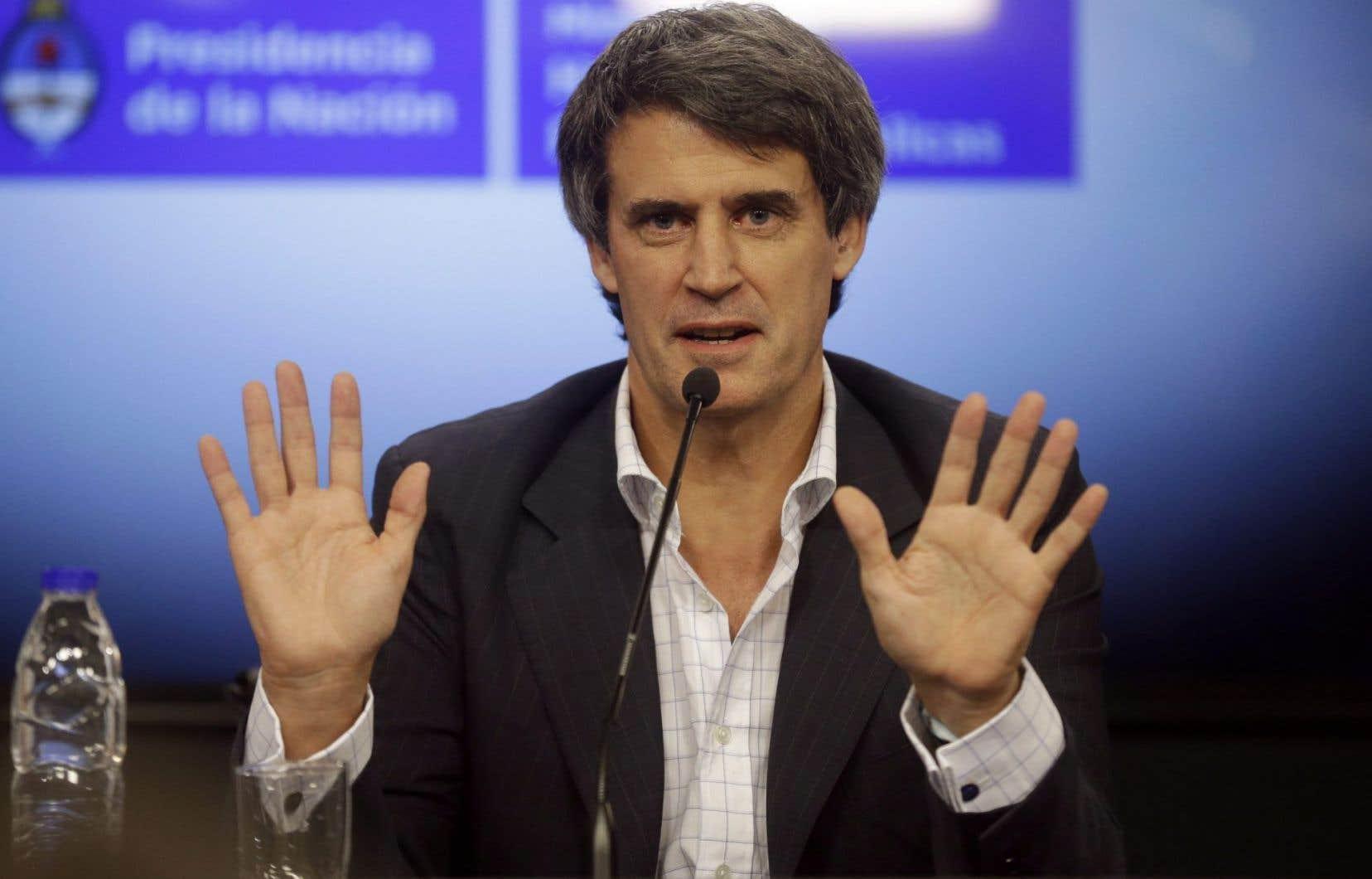 Le ministre argentin du Budget et des Finances, Alfonso Prat-Gay