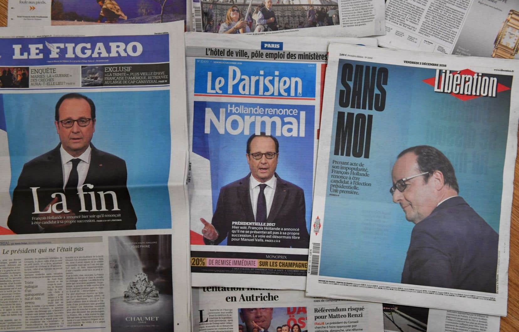 Le quotidien «Le Parisien» a annoncé mardi qu'il ne publierait plus de sondages, très critiqués pour avoir échoué à prédire les récents bouleversements politiques.