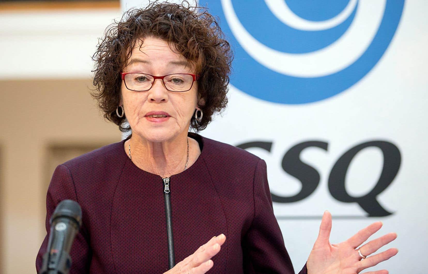 «On espère qu'il va y avoir un réel changement de cap», a estimé mardi la présidente de la Centrale des syndicats du Québec, Louise Chabot.