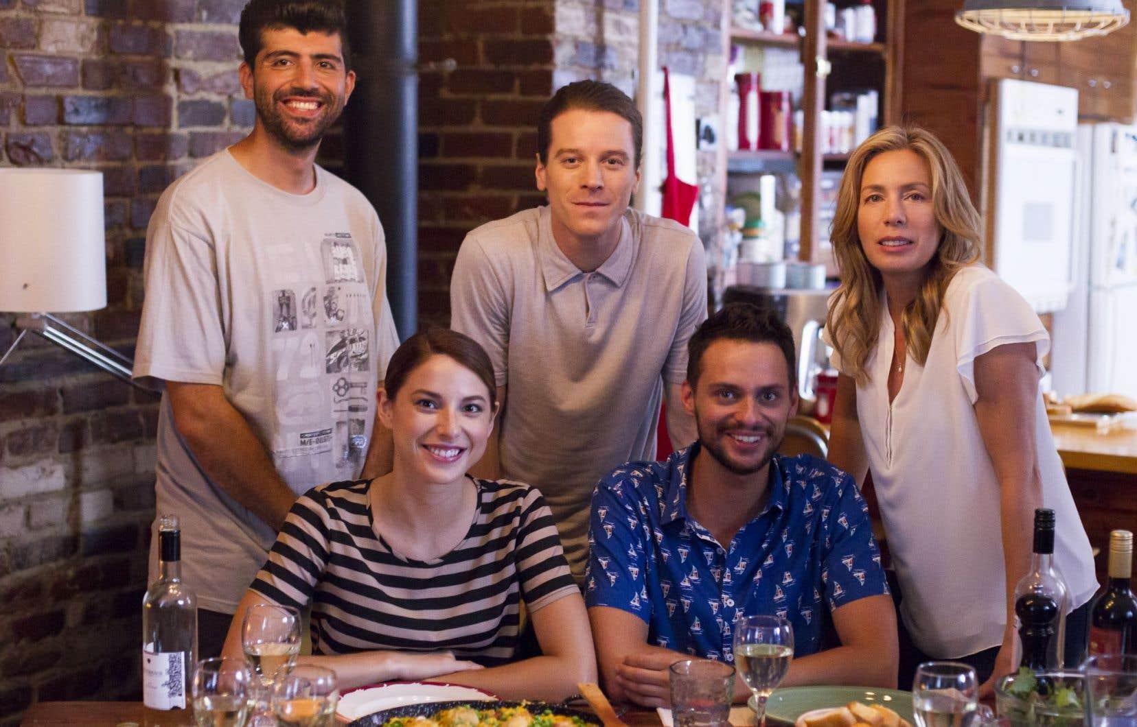Les comédiens de la nouvelle série «L'heure bleue»
