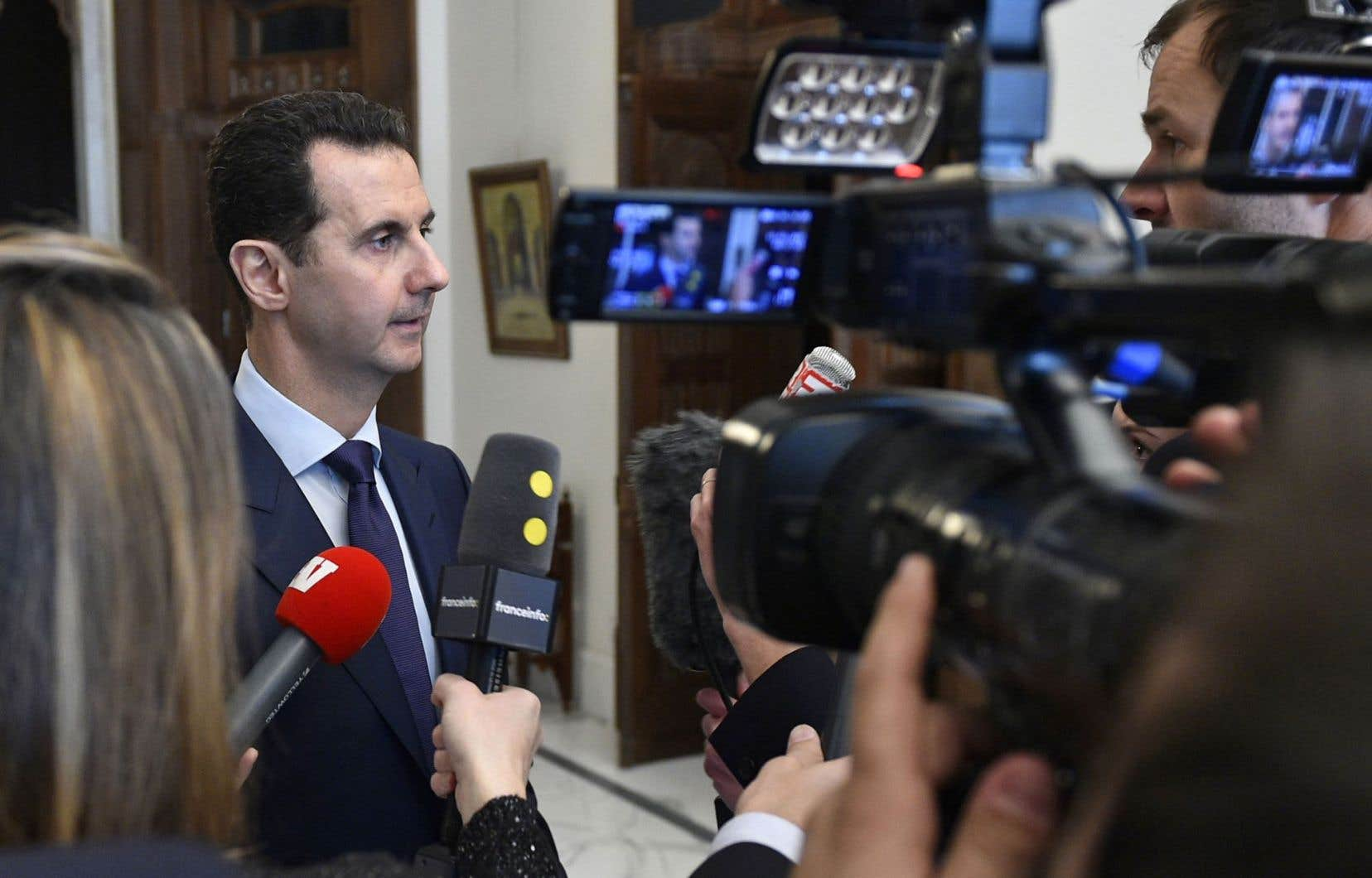 Le président syrien, Bachar al-Assad, a accordé des entrevues à certains médias français, ces derniers jours, dans lesquelles il évoque le cours de la guerre et les négociations avec l'opposition.
