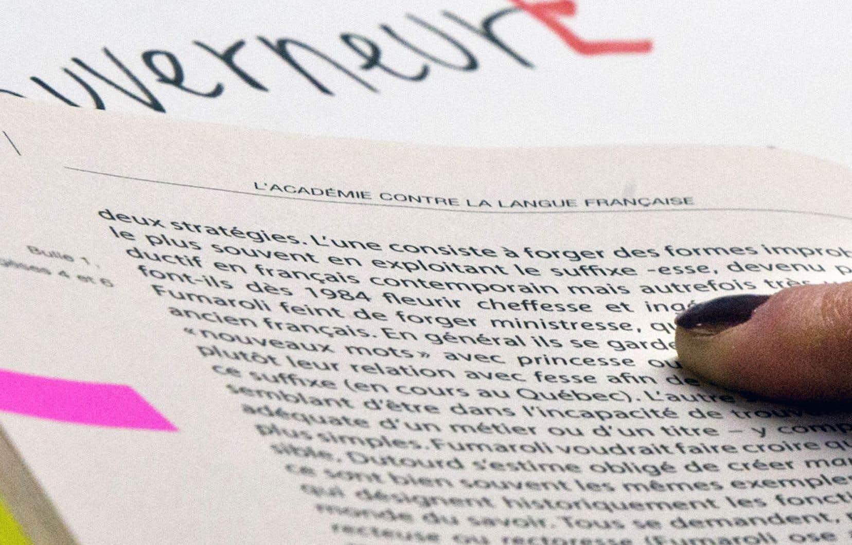 «La dénomination actuelle des genres grammaticaux, impropre, force les enseignants à affirmer la primauté du masculin sur le féminin», explique l'auteur.