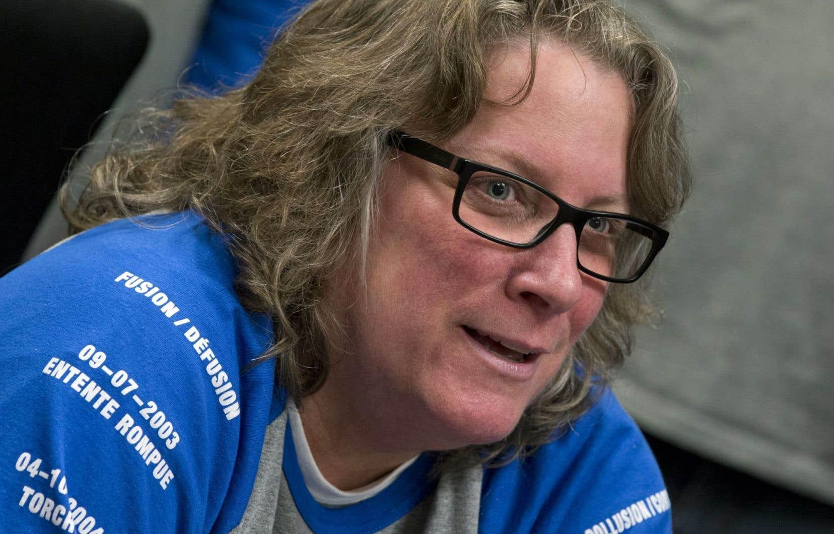 La présidente du Syndicat des cols bleus de Montréal, Chantal Racette