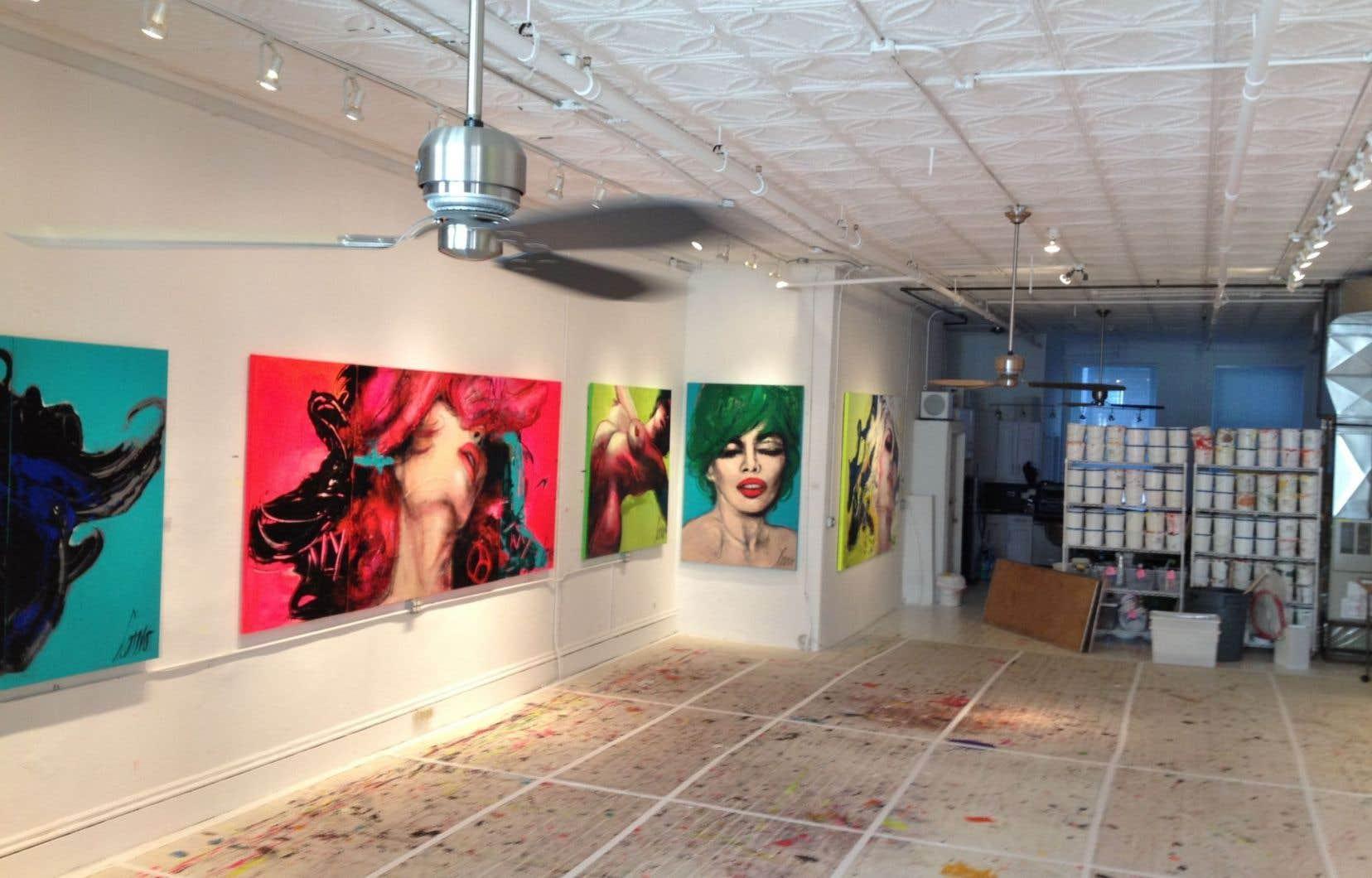 L'atelier de la peintre Corno dans SoHo, à New York. Une présence forte malgré son absence. Tiré du documentaire Corno.