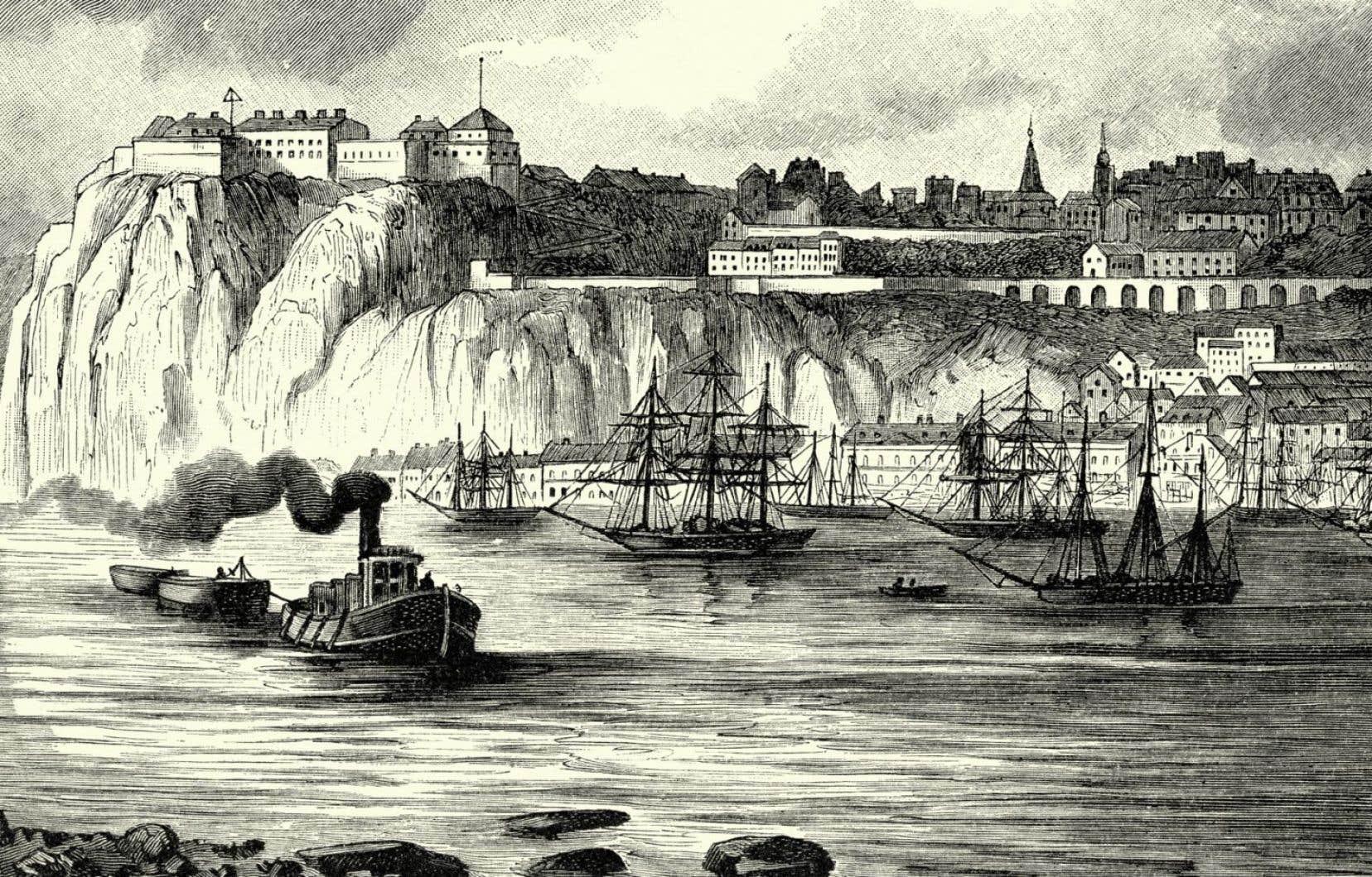 Le cap Diamant, vers 1886