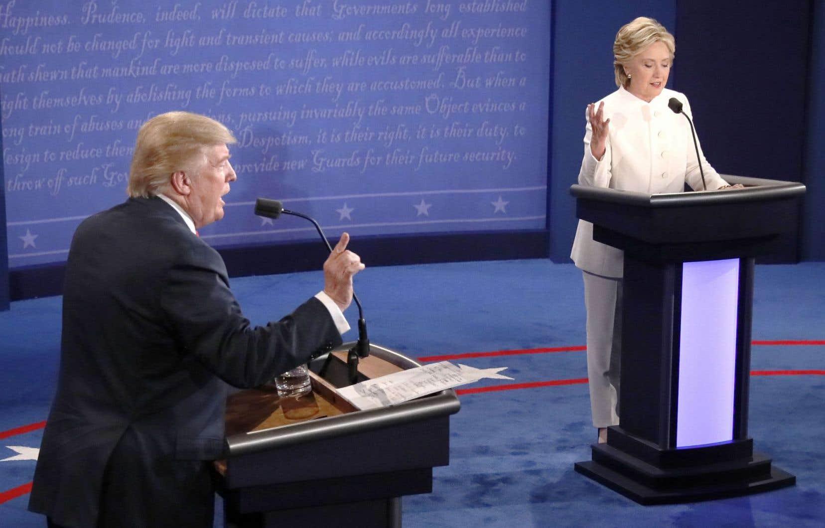 Donald Trump et Hillary Clinton en débat. La confirmation de l'implication da le Russie dans l'élection américaine n'a pas surpris les spécialistes du contre-espionnage.