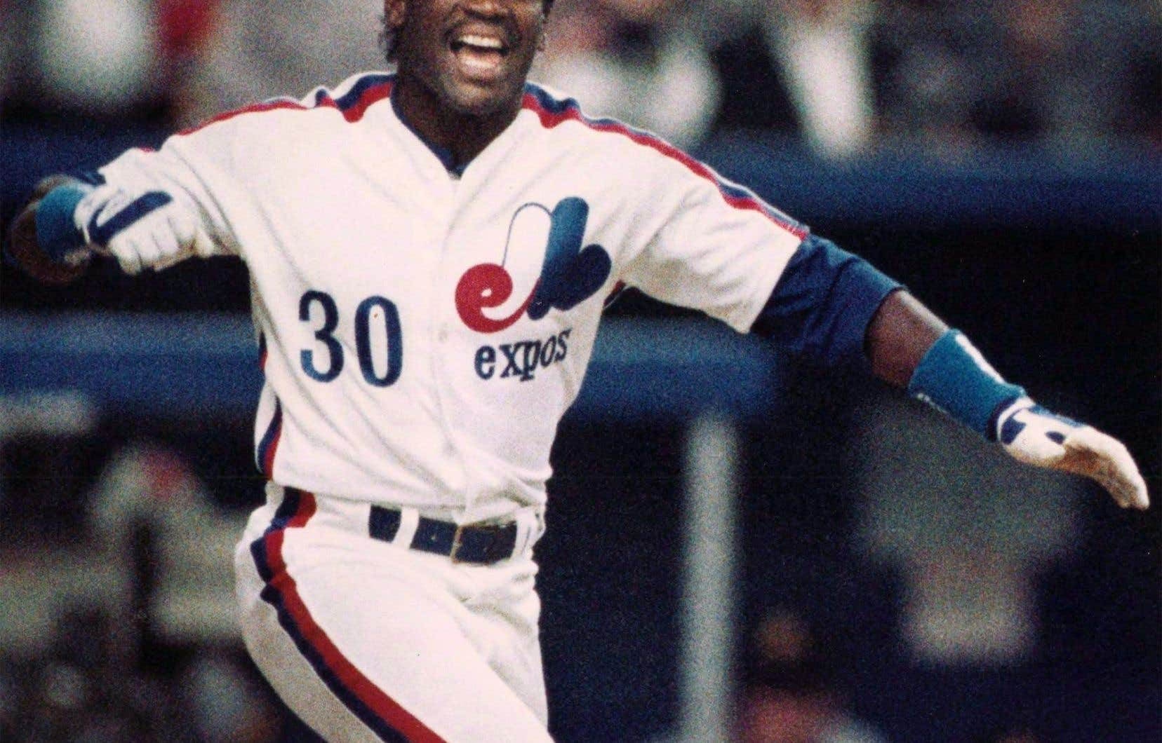Tim Raines le 4 avril 1989 à Montréal