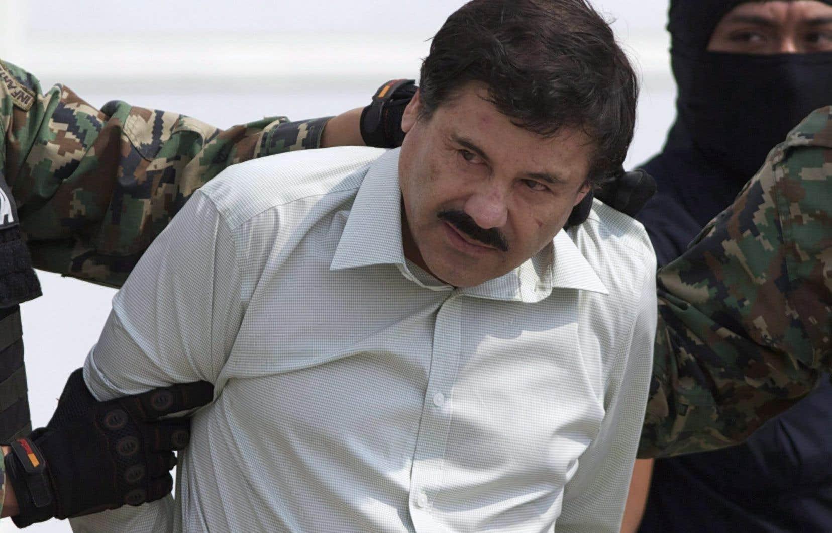 Joaquin «El Chapo» Guzman lors de sa capture à Mazatlán, en février 2014