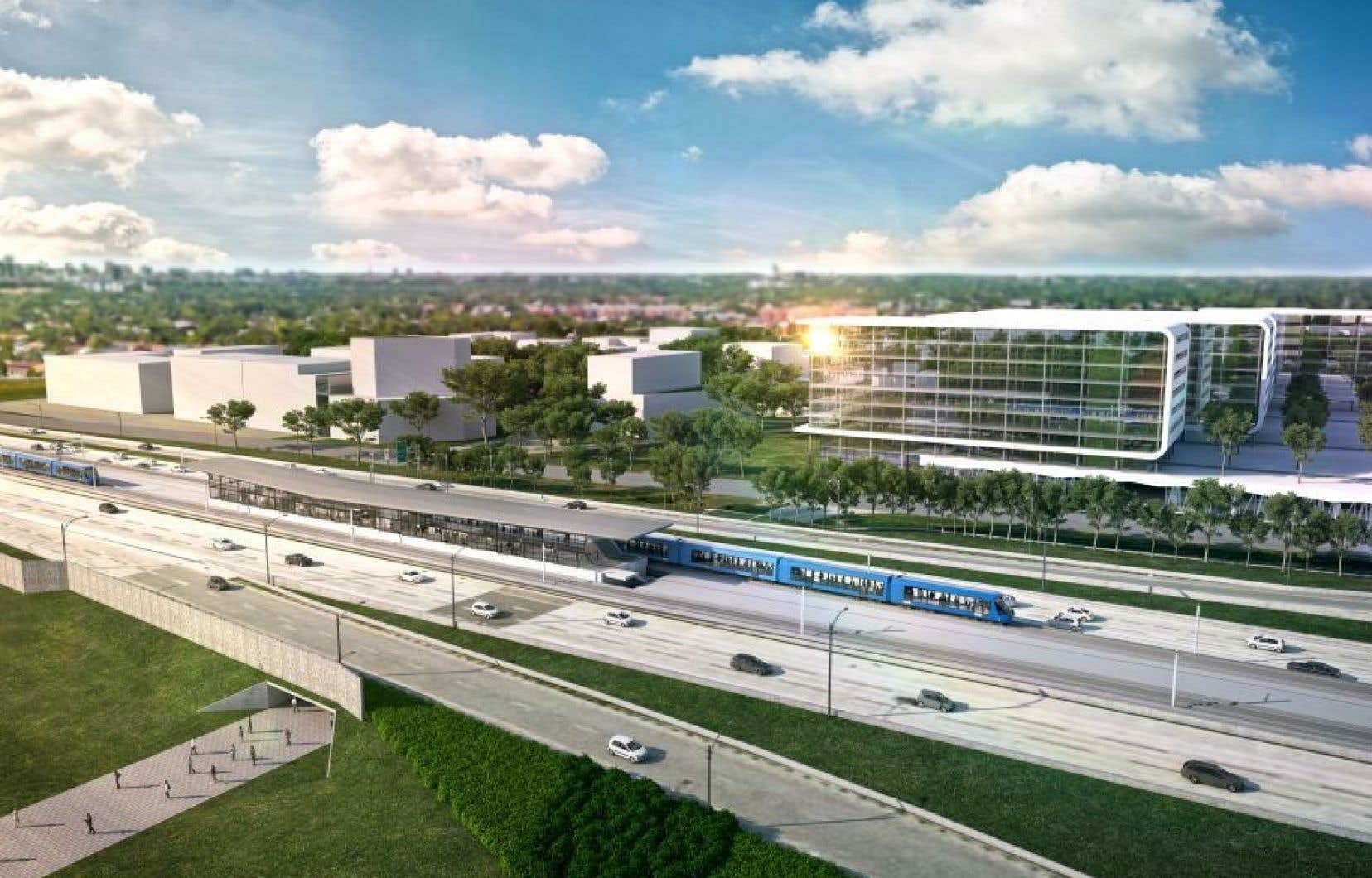 Le projet du REM propose un circuit de train électrique de 67 km.