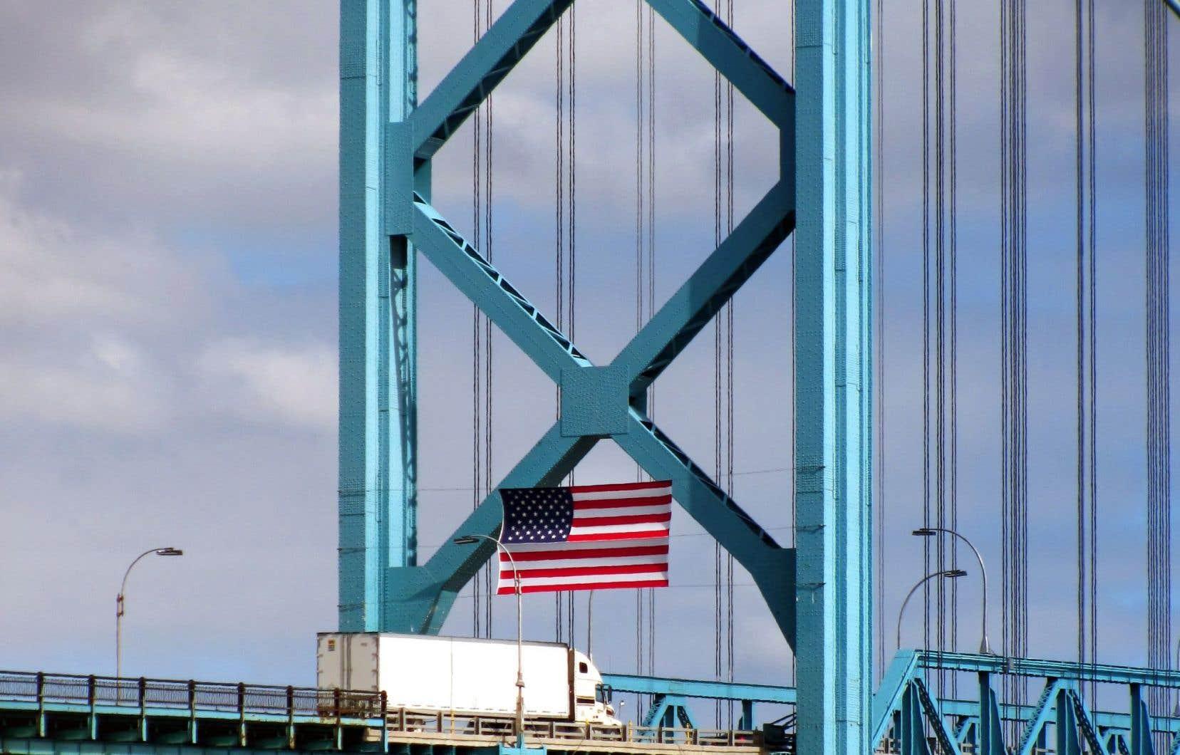 Le Canada envoie aux États-Unis les trois quarts de ses exportations bon an, mal an.