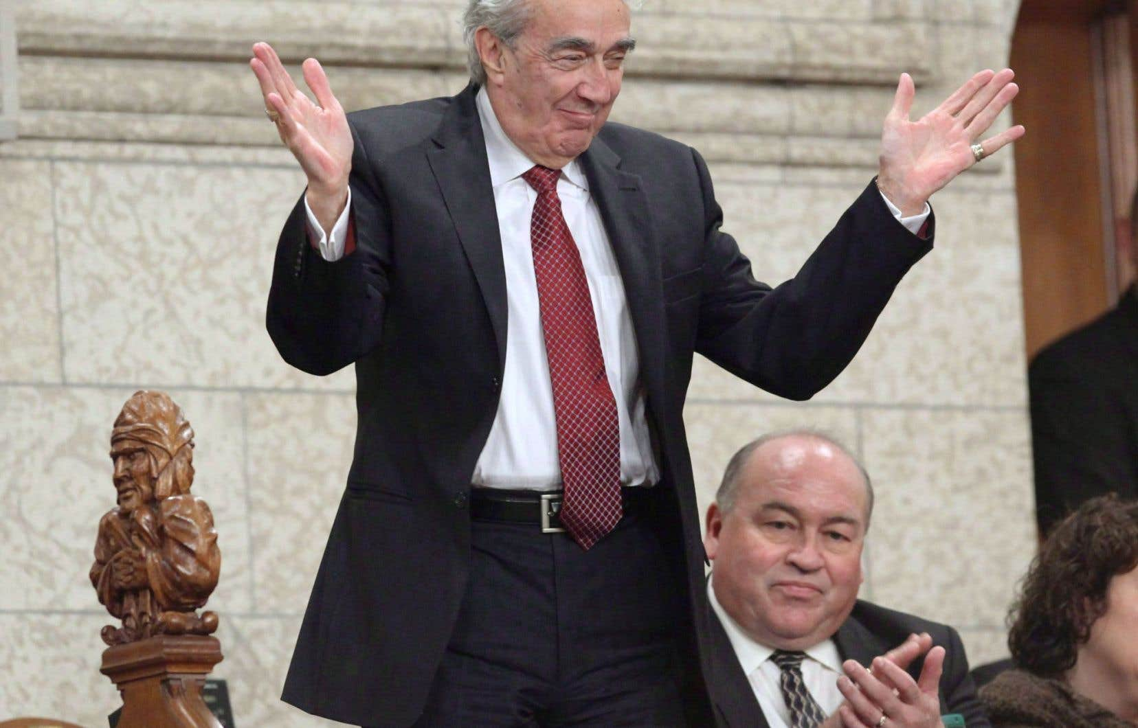 Marcel Prud'homme à la Chambre des Communes, en 2009