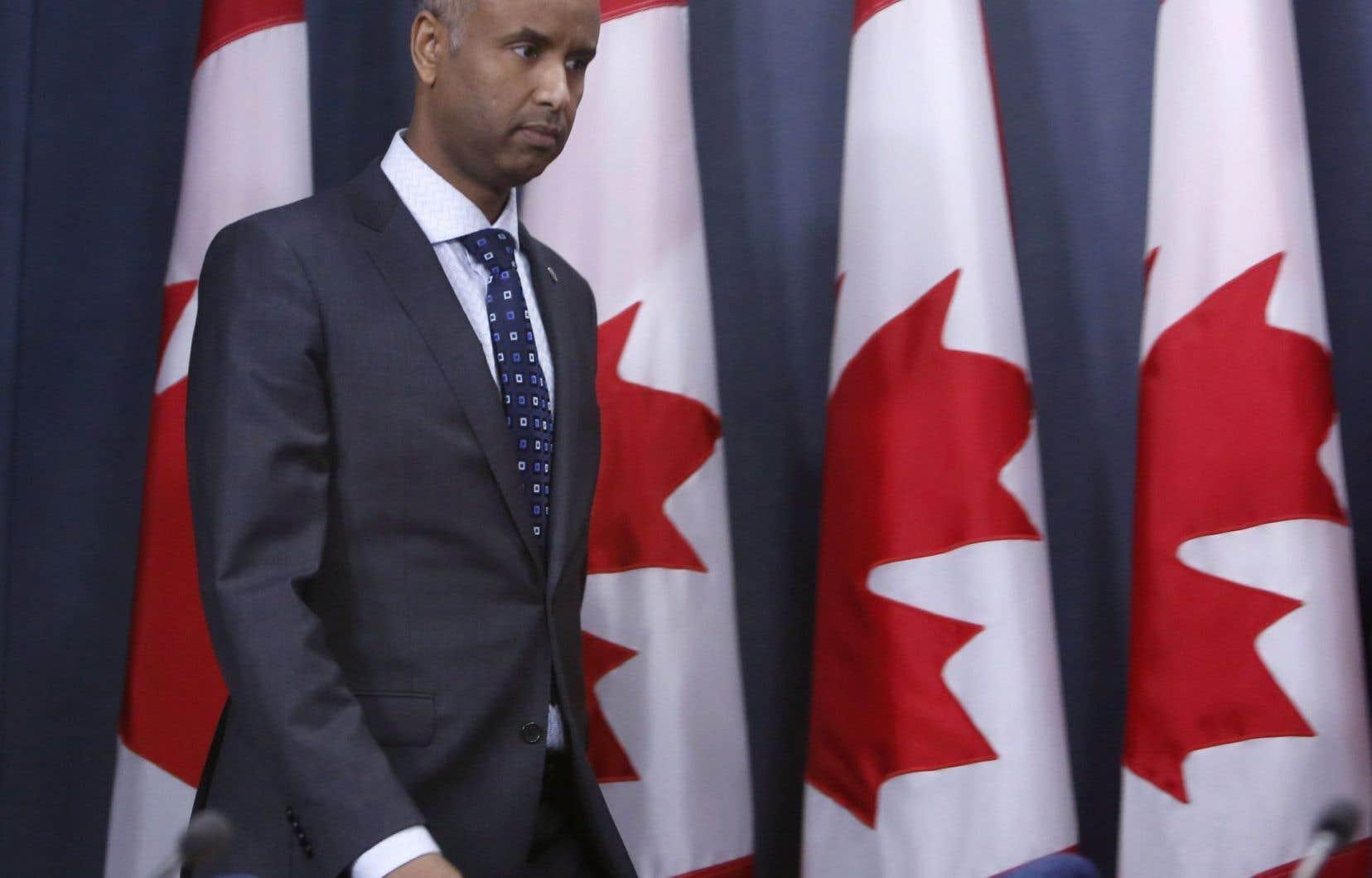 Le ministre del'Immigration du Canada, Ahmed Hussen