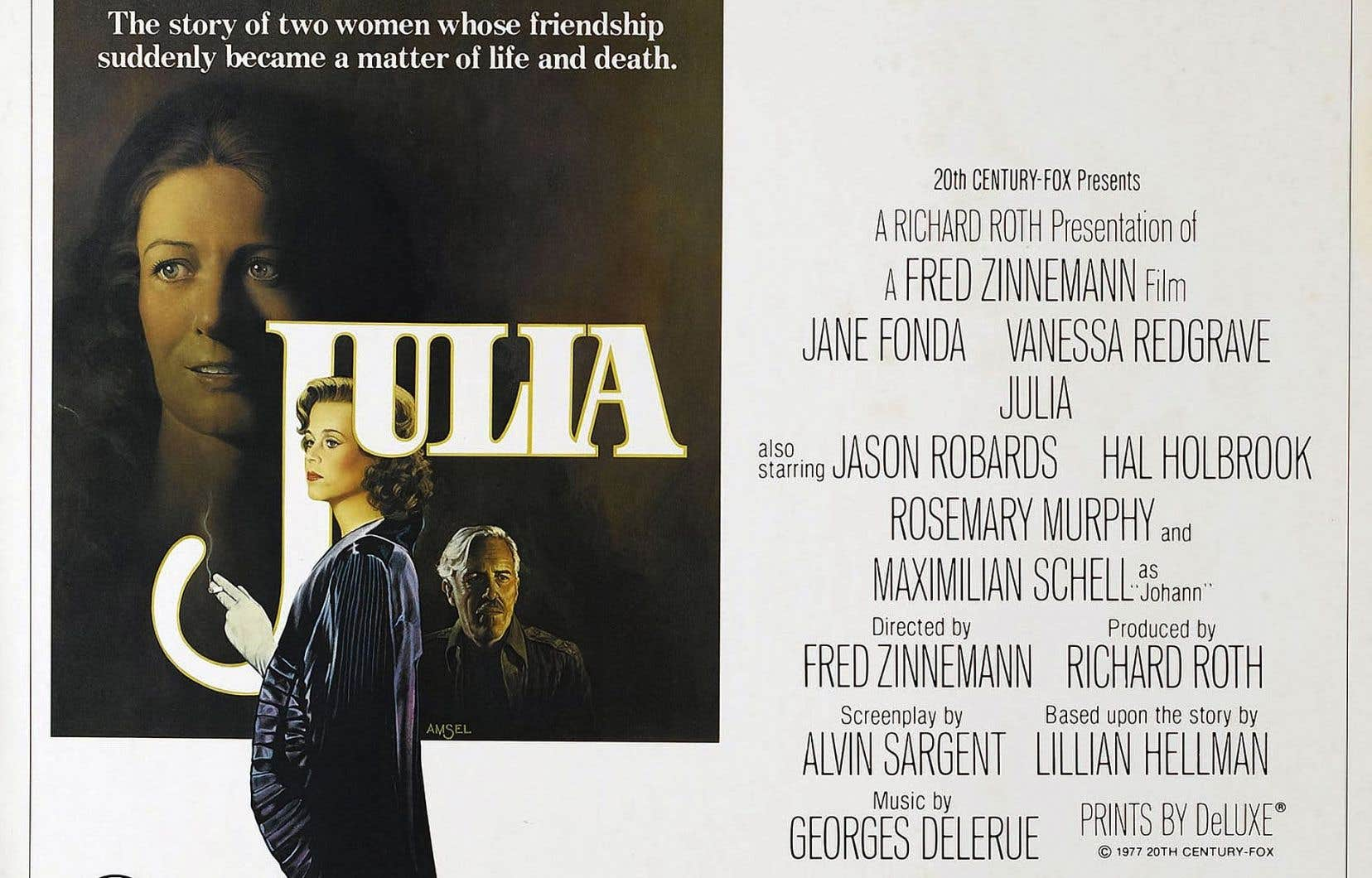 L'affiche originale du film «Julia», de Fred Zinneman, créée par l'artiste Amsel
