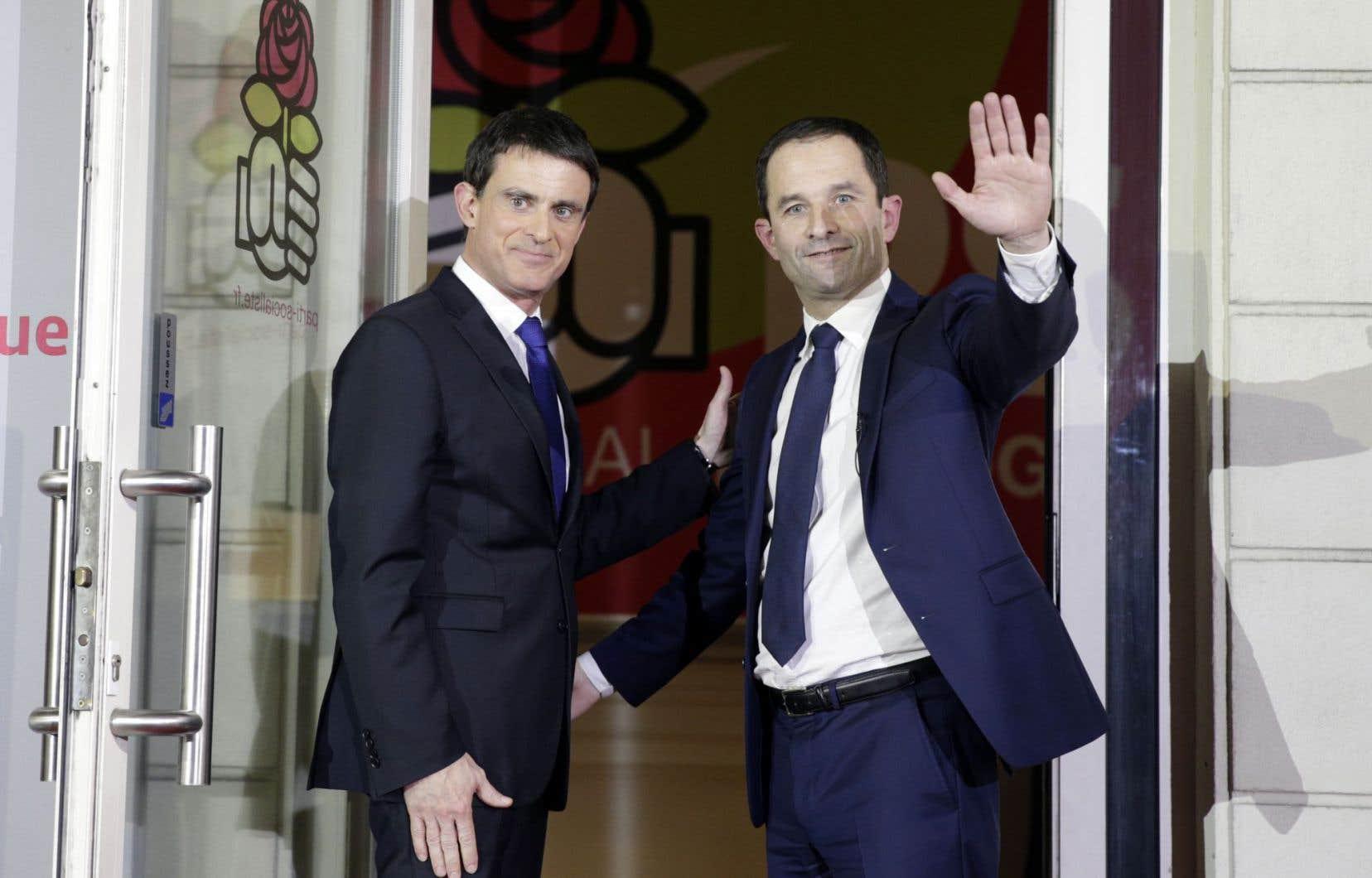 Manuel Valls est le perdant du second tour de la primaire de gauche avec 41% des voix, alors que Benoît Hamon est le vainqueur avec 59%.