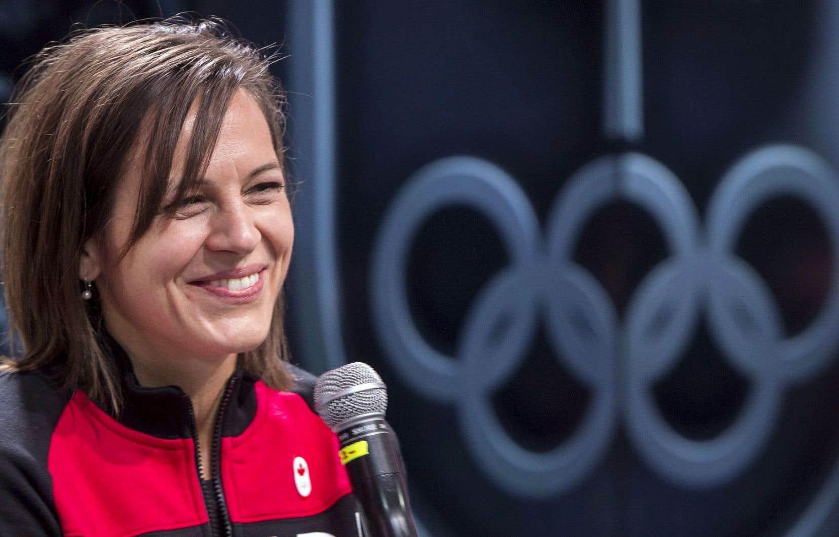 «C'est un énorme privilège, un grand honneur», a déclaré la triple médaillée olympique, en conférence de presse lundi.