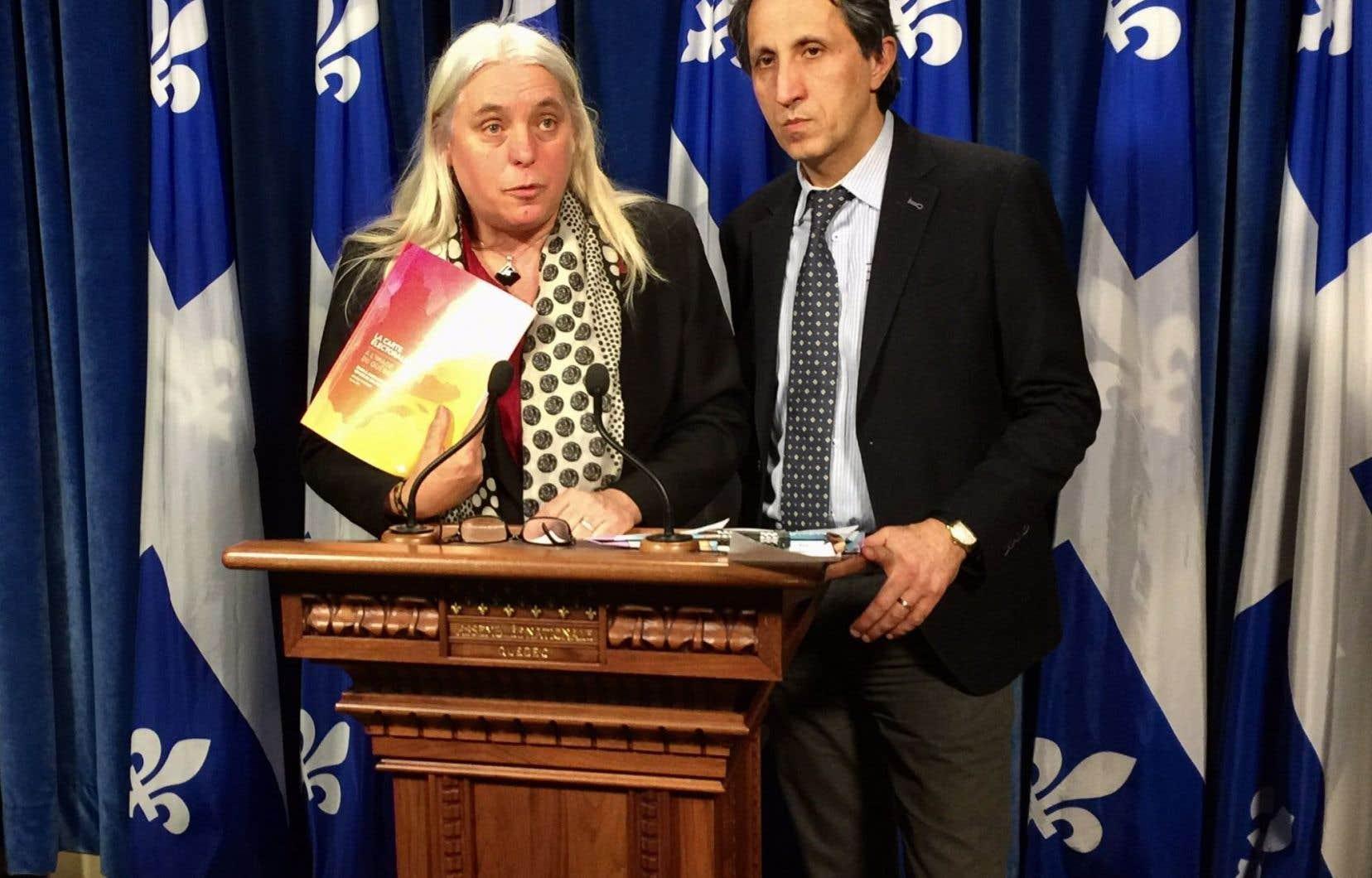 Les députés de Québec solidaire, Manon Massé et Amir Khadir, mardi