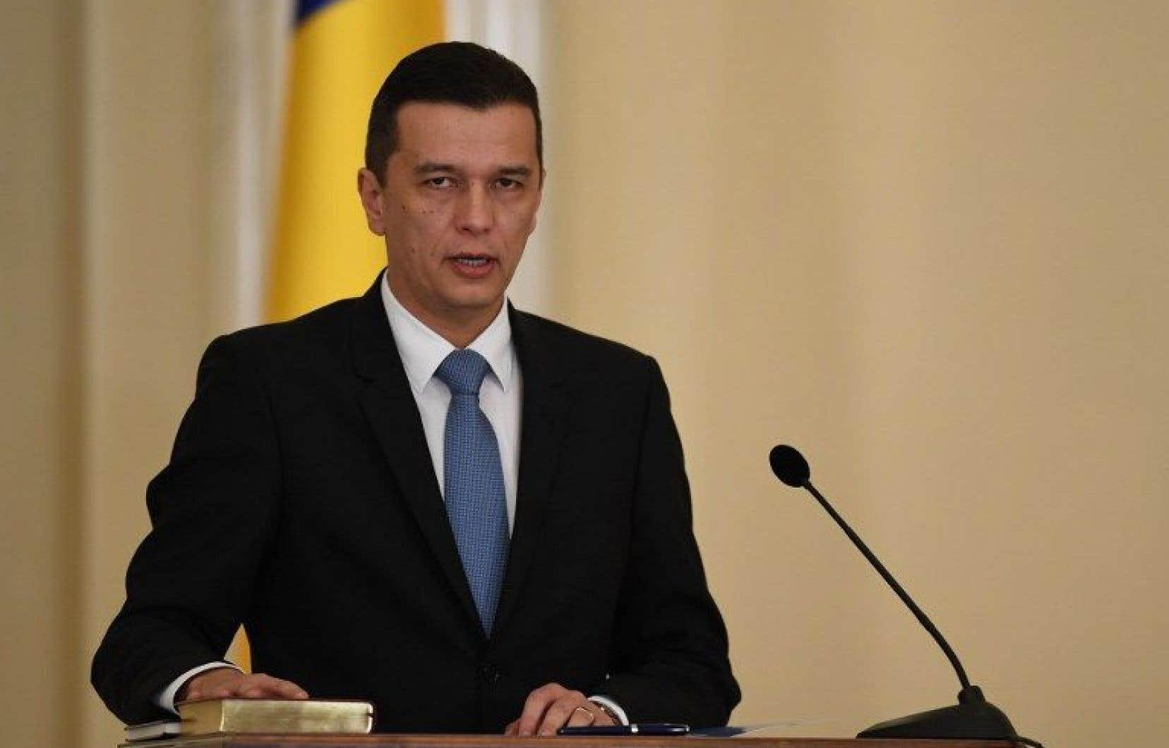 Le premier ministre roumain, Sorin Grindeanu