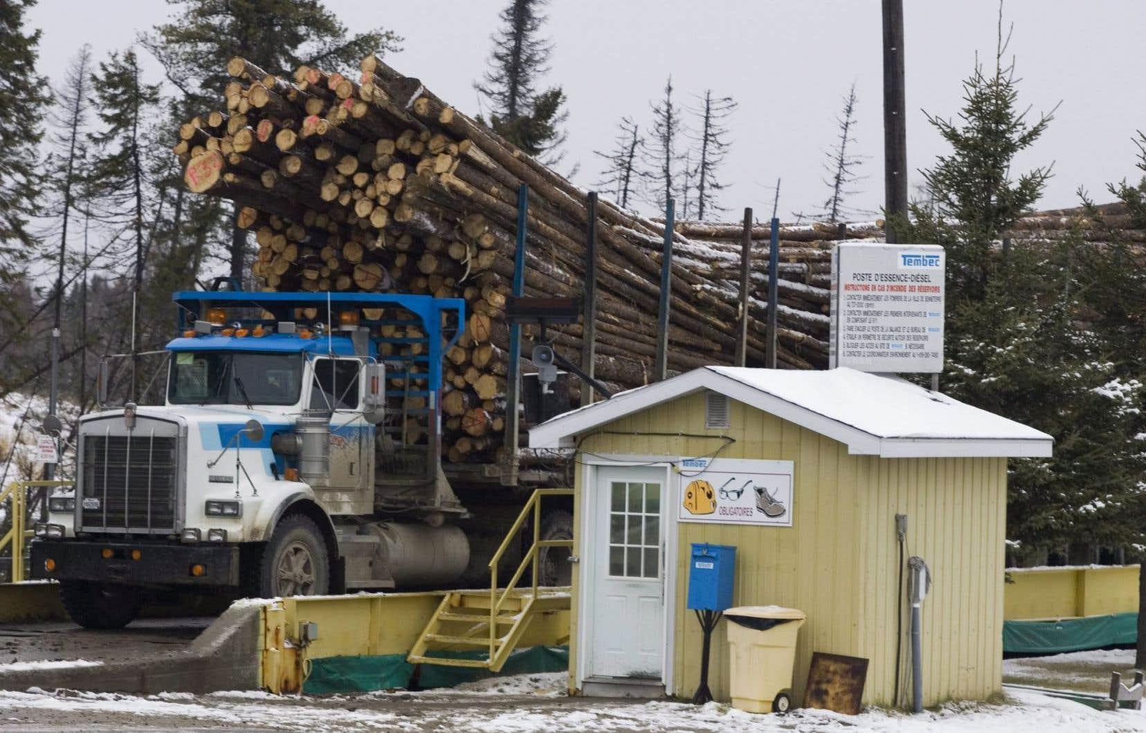 Un chantier à Senneterre, en Abitibi-Témiscamingue