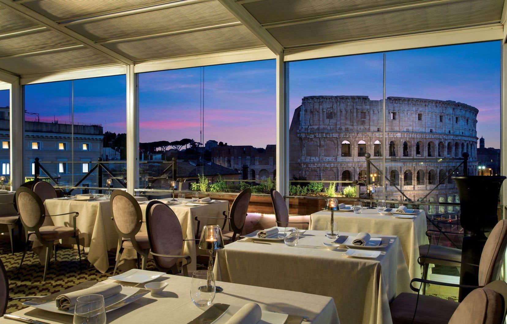 Aroma, le restaurant étoilé du Palazzo Manfredi, un superbe Relais Châteaux romain, fournit le décor idéal à la grande demande.