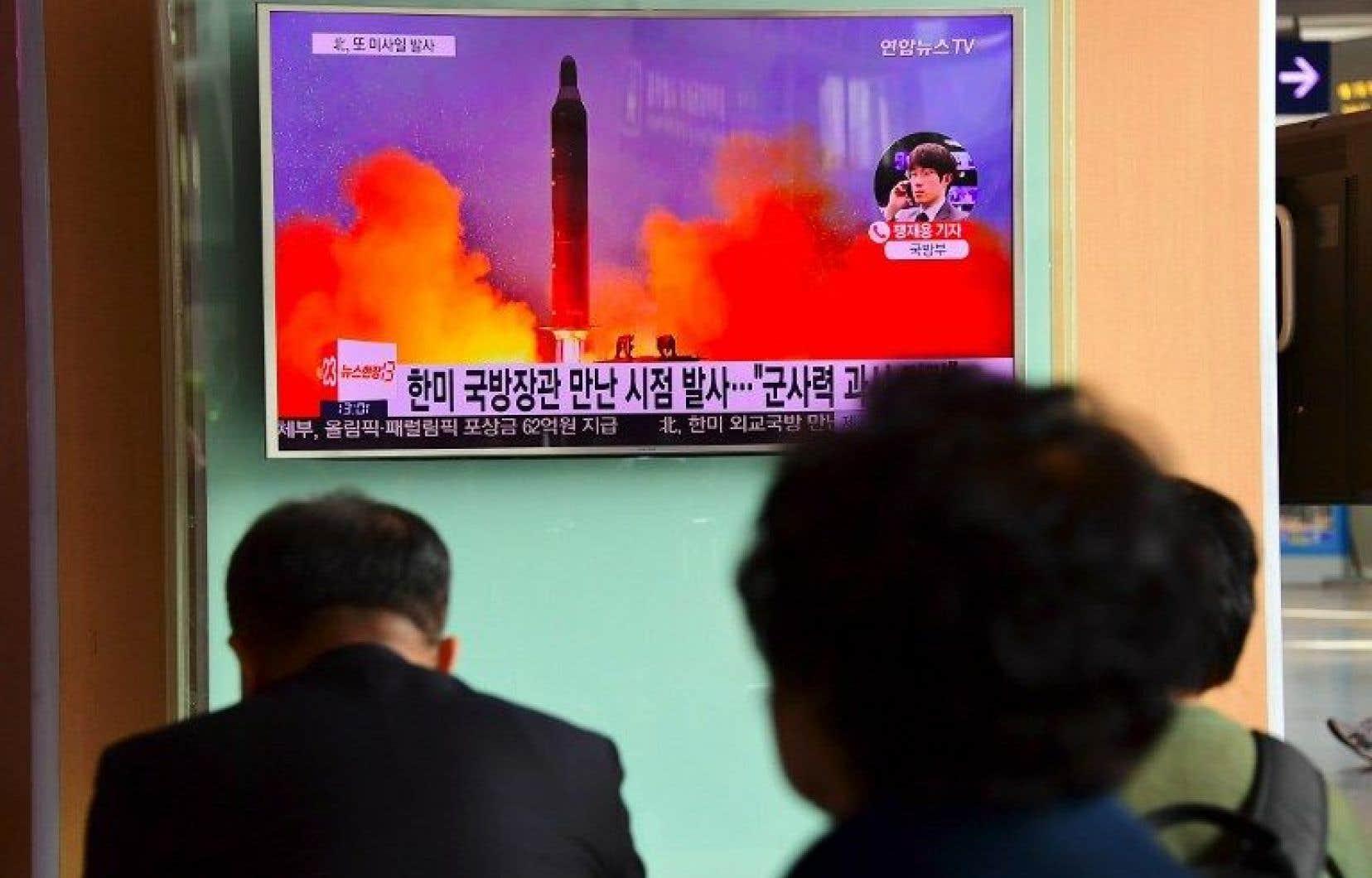 Le missile a parcouru environ 500 kilomètres puis est tombé dans la mer.