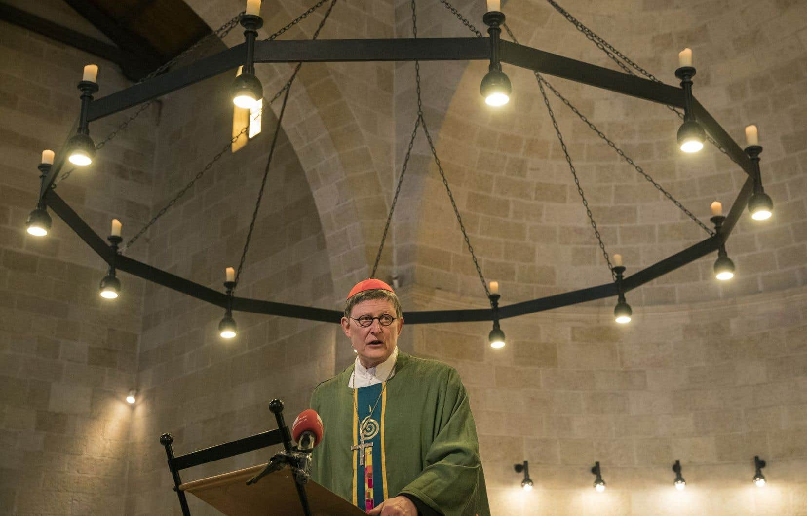 L'atrium de l'église a rouvert après une messe en présence du cardinal de Cologne, Rainer Woelki.