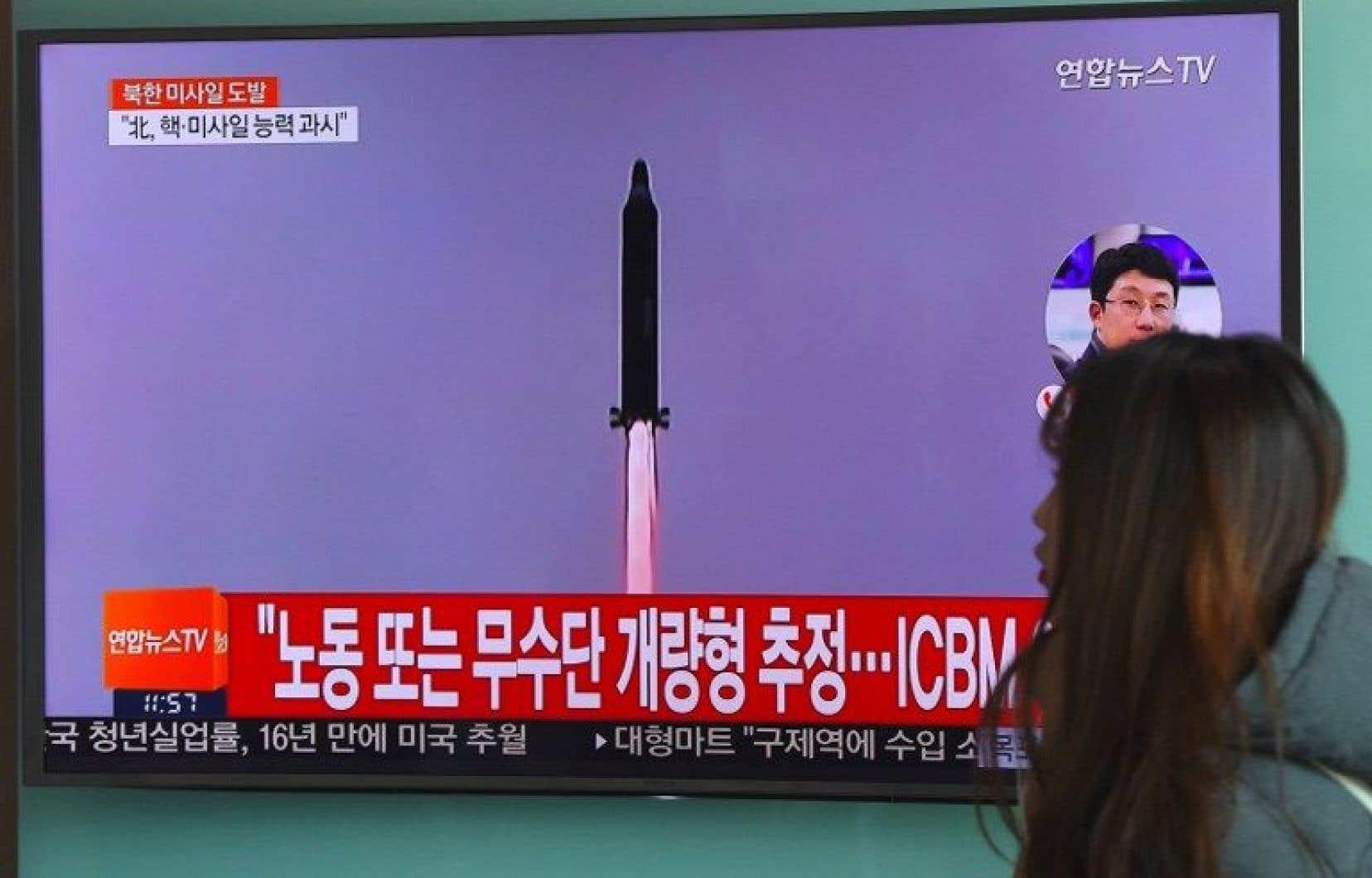 Dimanche, la Corée du Nord a tiré un missile balistique