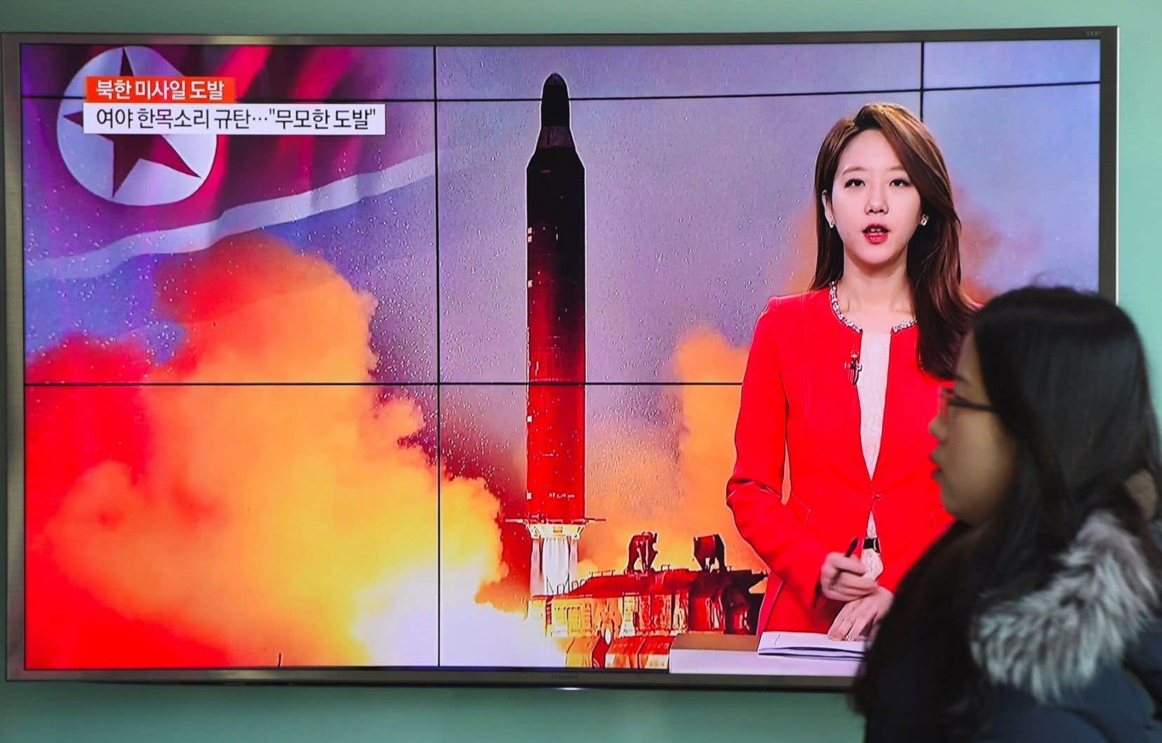 Le tir d'en fin de semaine n'est pas un ICBM, mais le ou les destinataires du message pourraient bien être les États-Unis et le Japon, les deux ennemis historiques de Pyongyang.