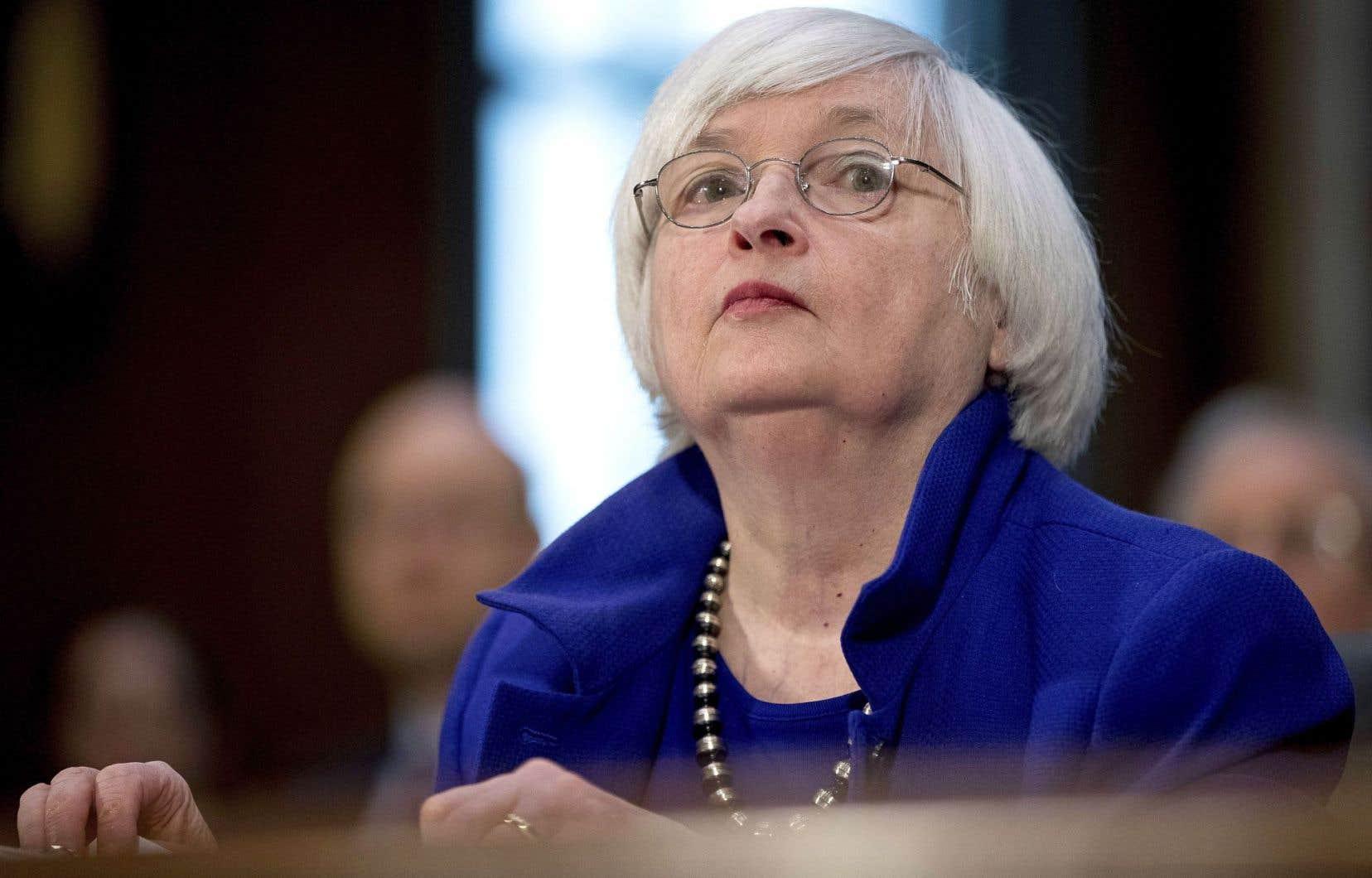 Janet Yellen, la présidente de la Fed, devant un comité du Sénat