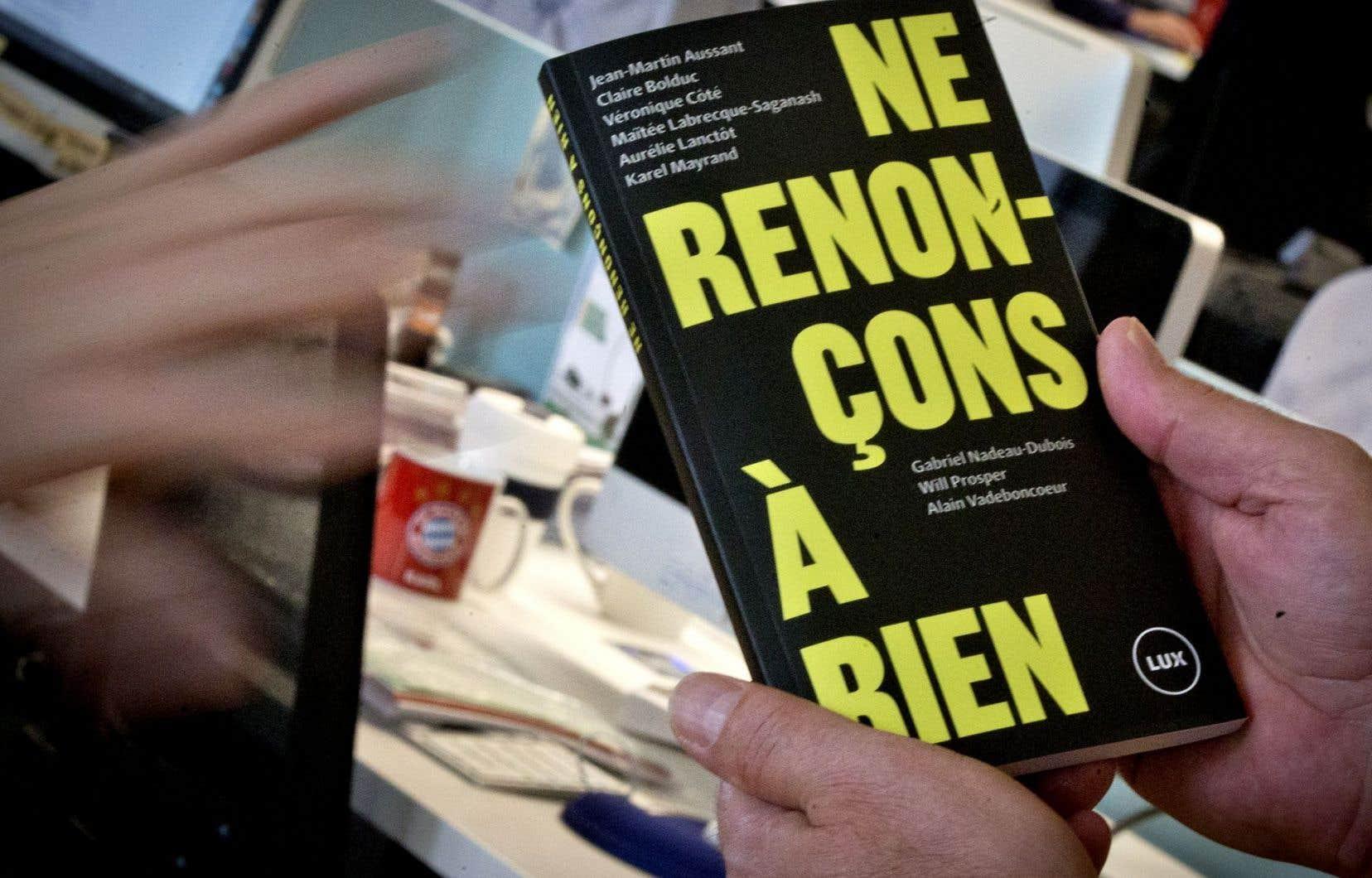 Le livre est le résultat de 174 assemblées de cuisine et d'une dizaine d'assemblées publiques.