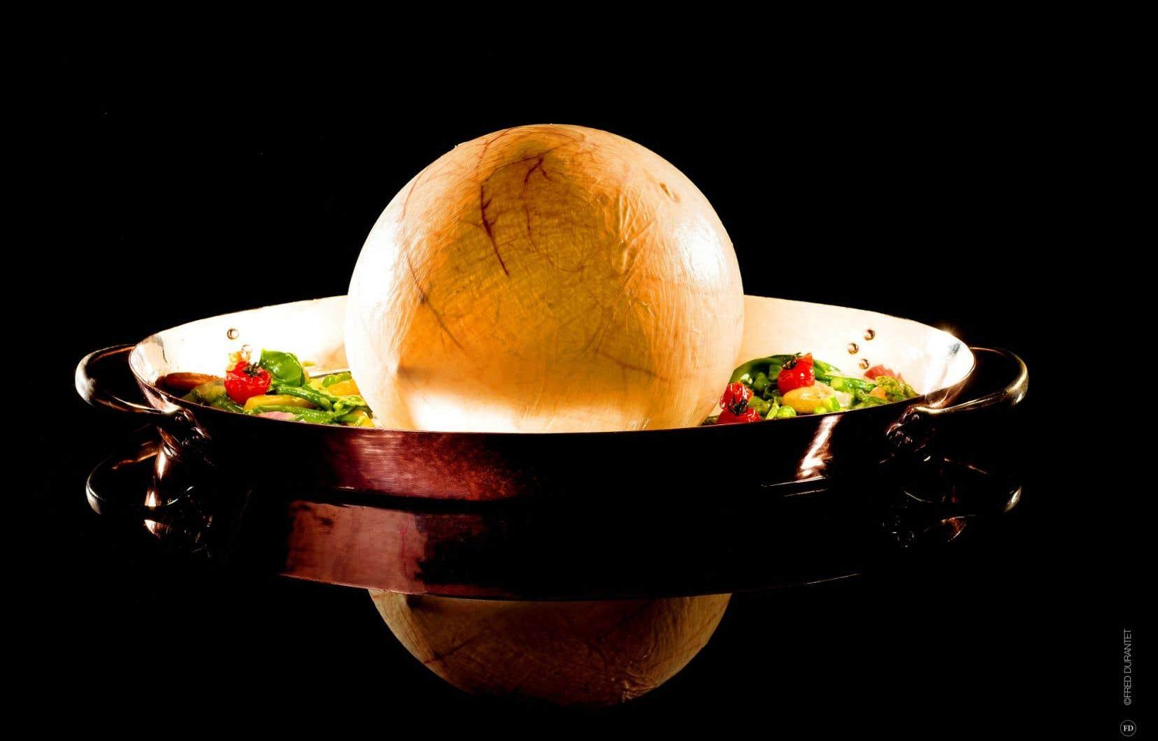 Volaille de Bresse cuite en vessie, une création Bocuse