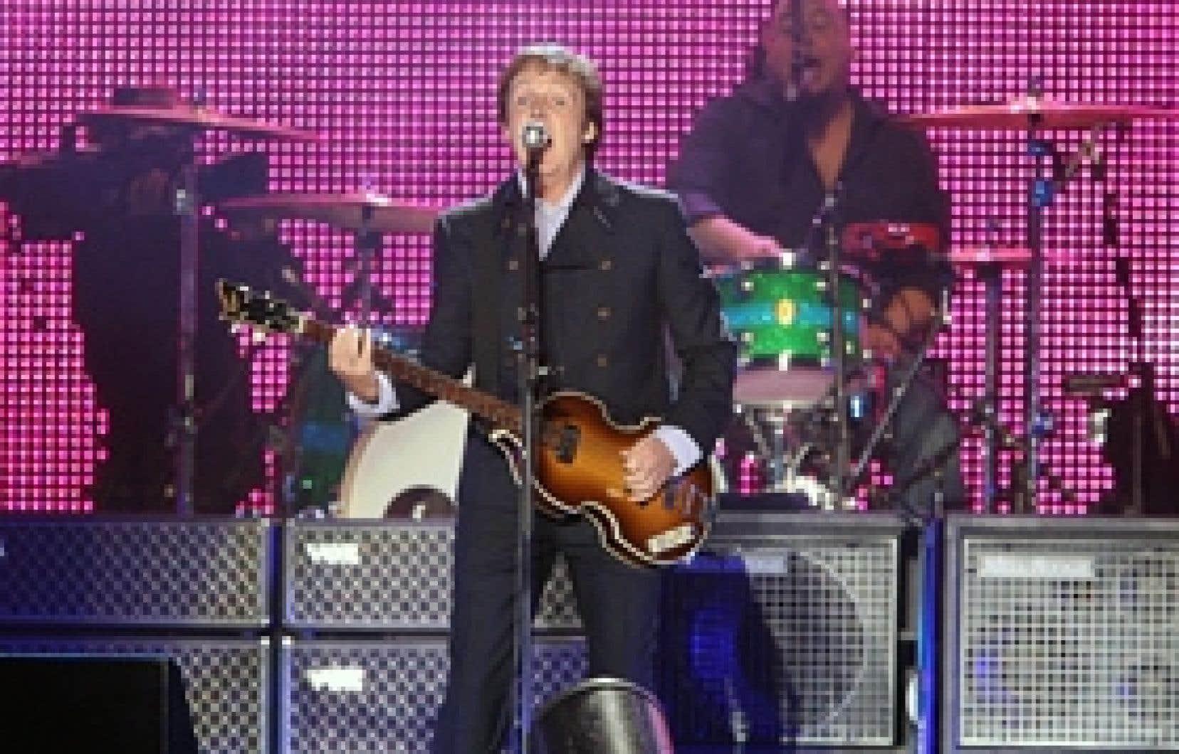 Paul McCartney lors du spectacle sur les plaines d'Abraham
