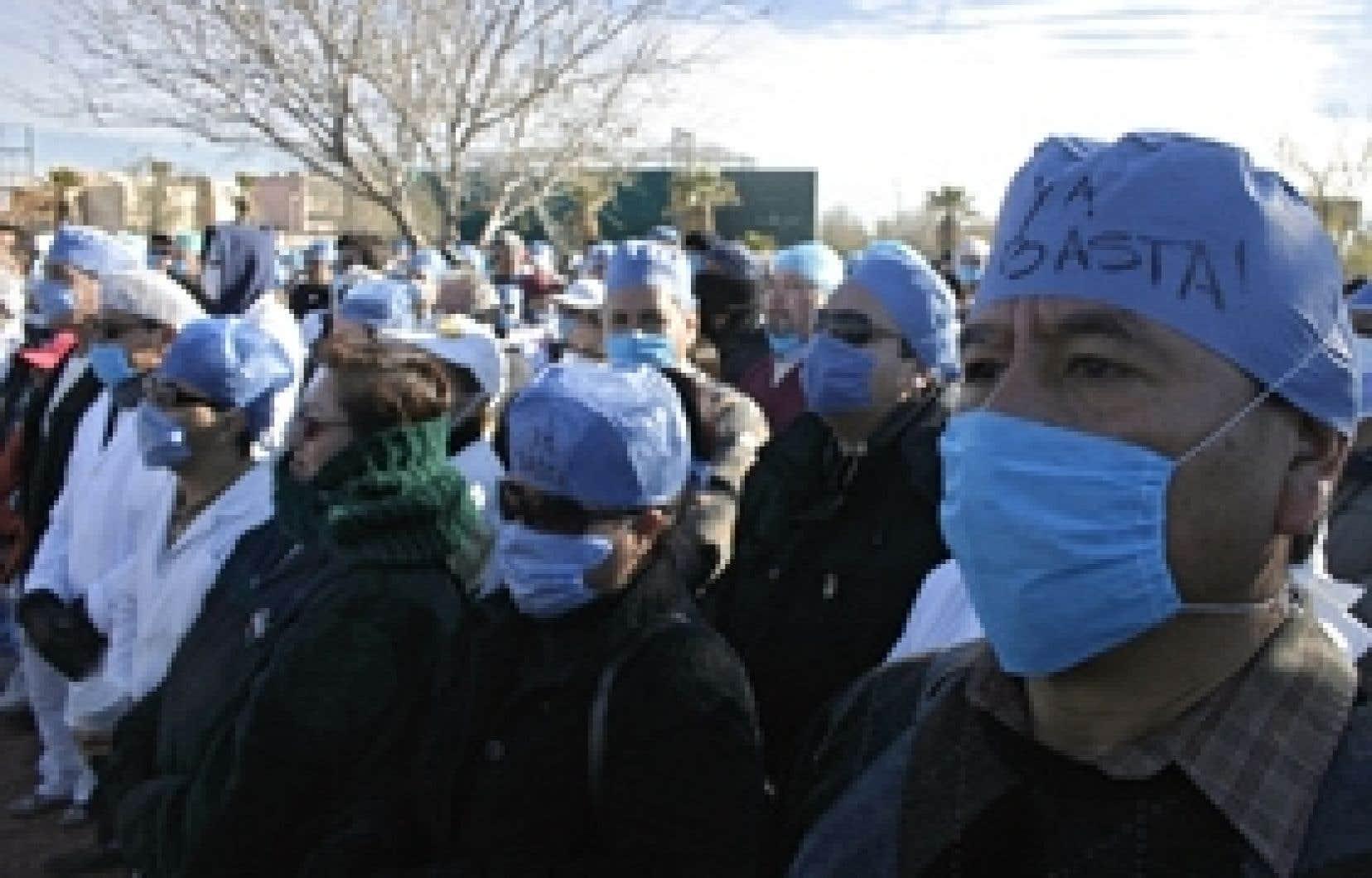 Des médecins ont manifesté au début du mois à Ciudad Juárez.