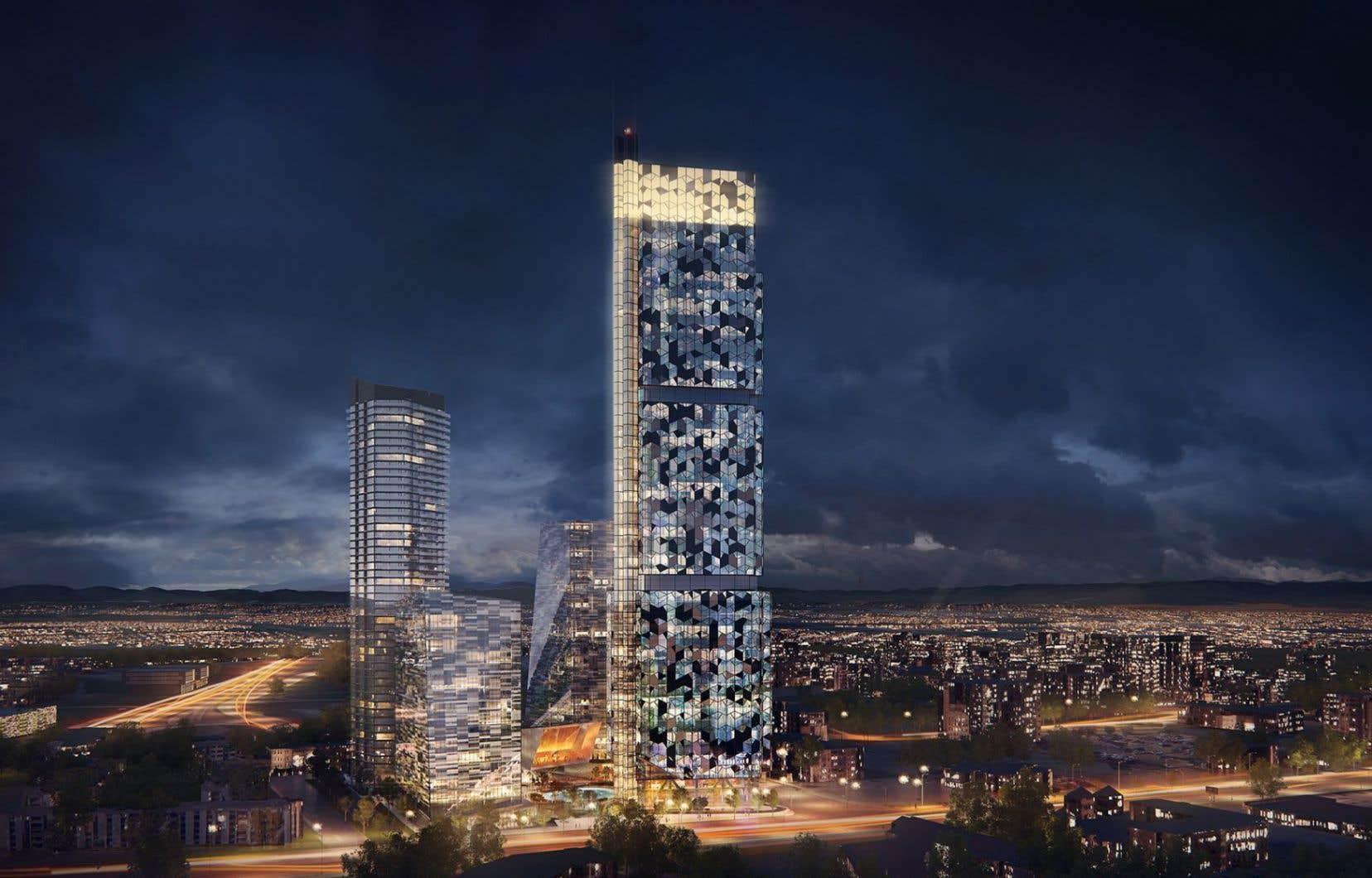 Le projet du Phare fait 65 étages, soit beaucoup plus que ce que lePlan particulier d'urbanisme prévoyait.