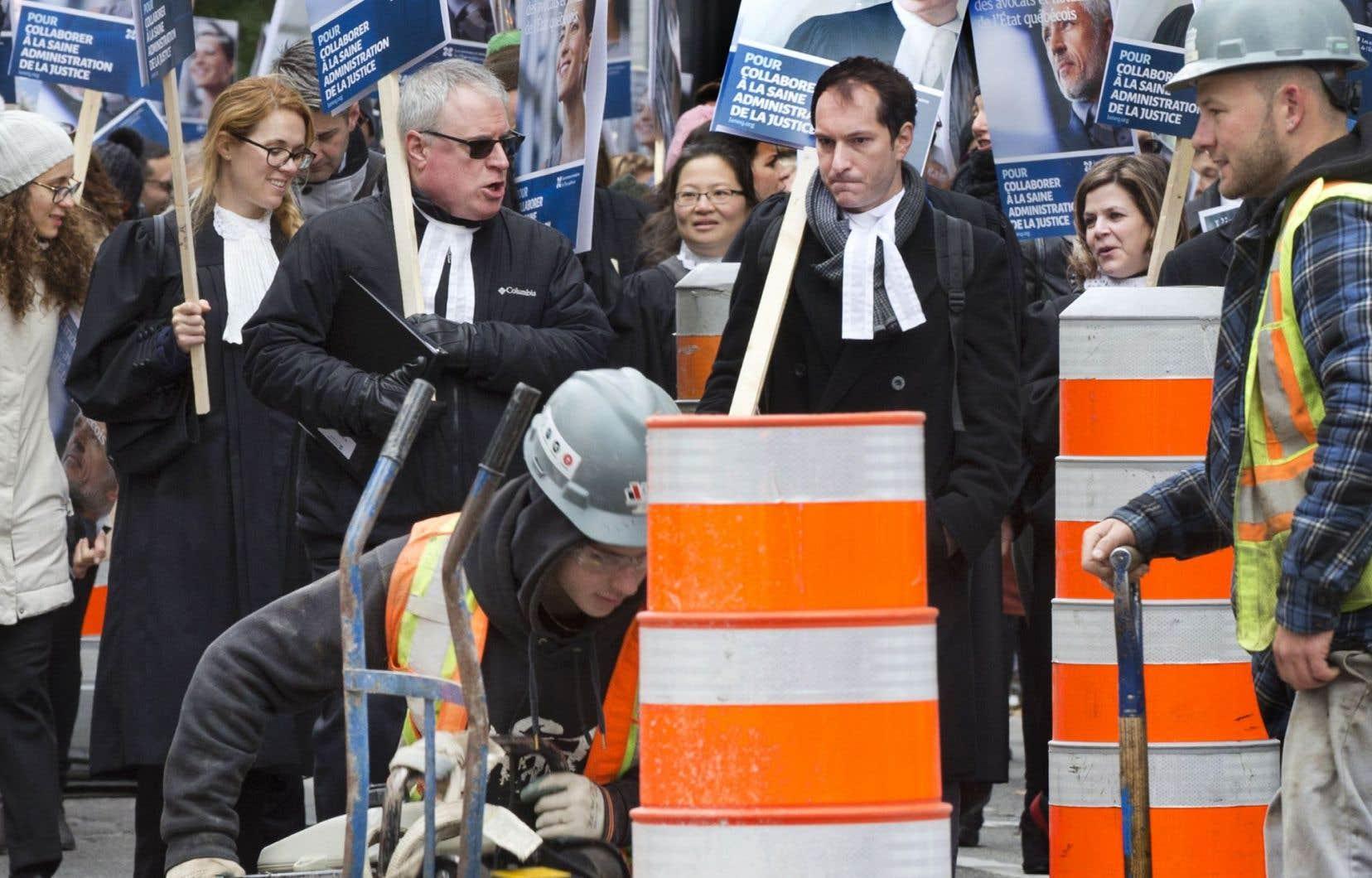 Les avocats et notaires du Québec sont en grève depuis octobre dernier.